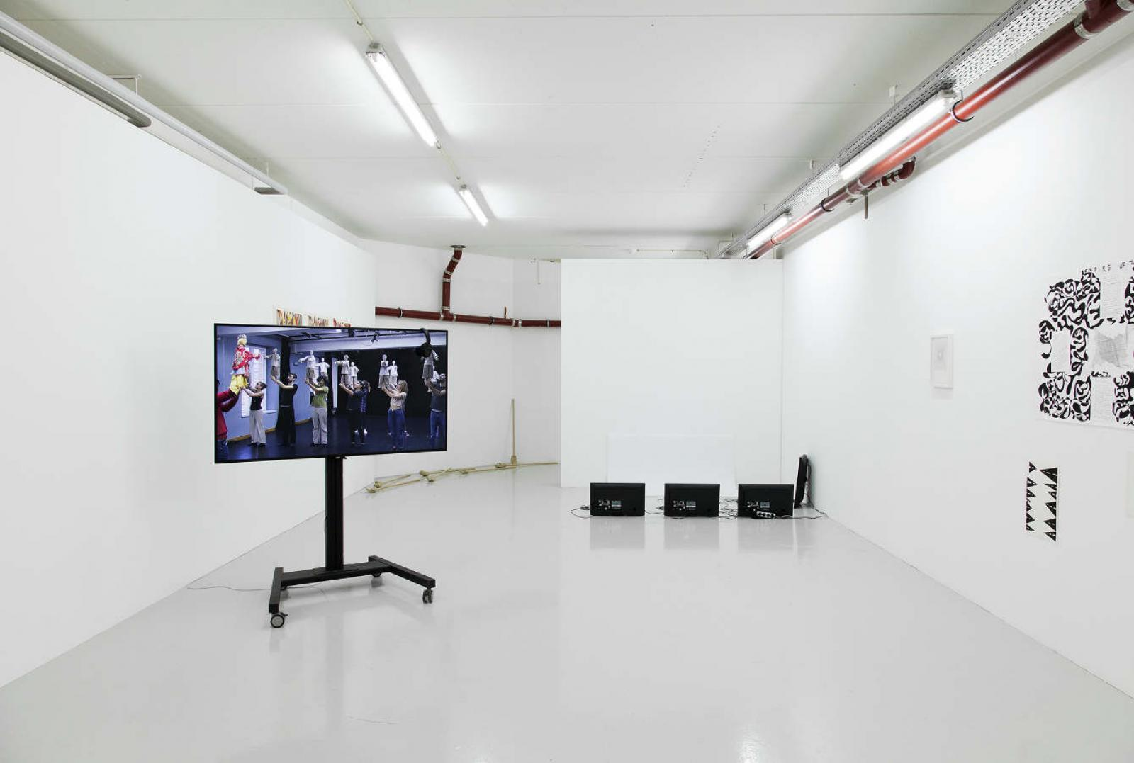 """The Antipodes of My Body"" (2017-18), Exhibition view of a group show featuring Rob Churm, Nanna Lysholt Hansen"