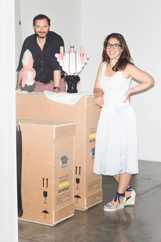 Kourosh Nouri & Nadine Knotzer, founders anddirectors of Carbon12 gallery  Works byMonika Grabuschnigg Left: /Headland //Right:/Ravit/