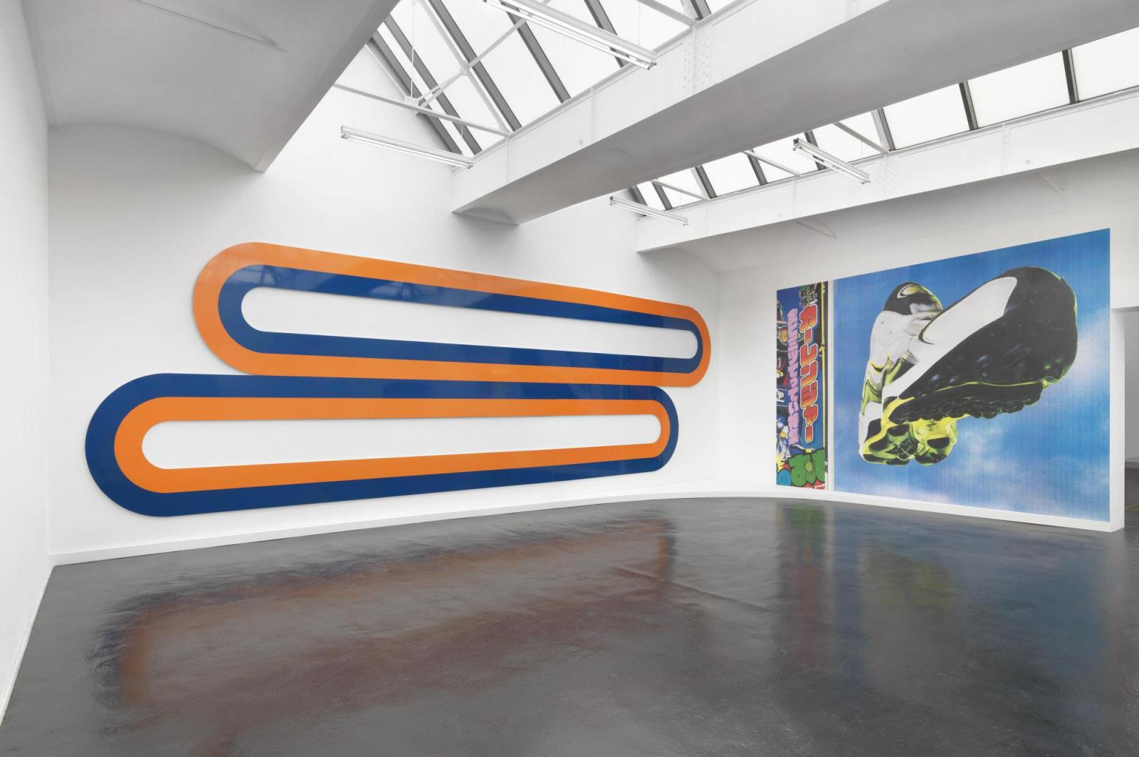 Michel Majerus /aluminium paintings/ installation view at neugerriemschneider