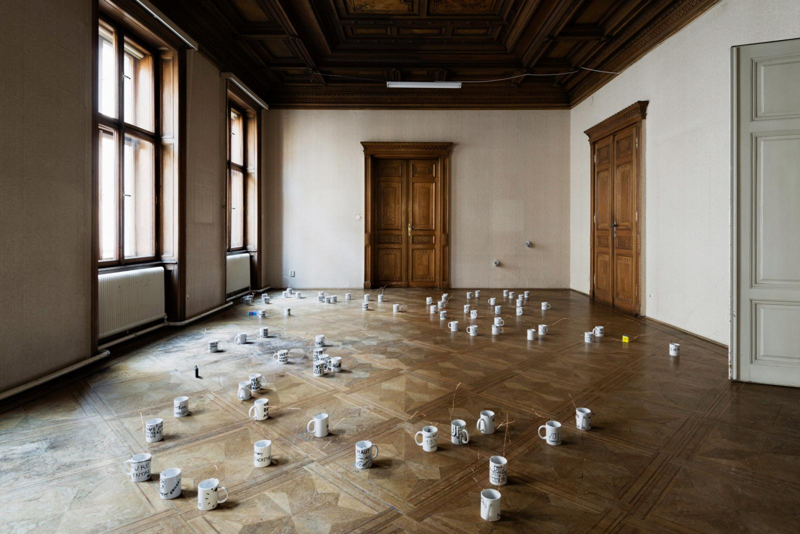 """""""The Critical Ass – Hierarchie der Sorgen"""" (2016); installation view at  Autocorrect"""