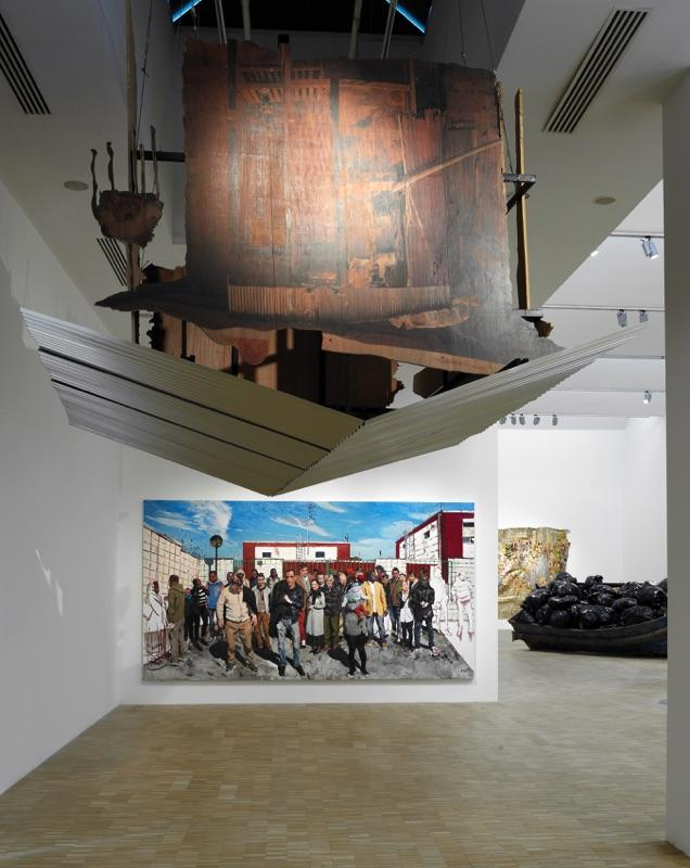 Pascale Marthine Tayou /The Falling House 4/(2017) Courtesy Pascale Marthine Tayou and Galleria Continua  Liu Xiadong /Things aren't as bad as they could be/(2017) Courtesy Liu Xiadong and Massimo De Carlo