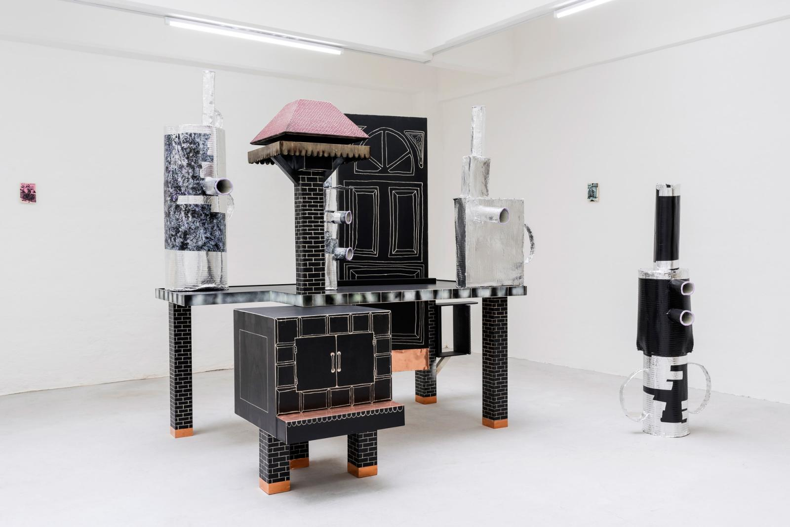 "Mathieu Haberard ""Sur La Route Après l'Insomnie"" (2017); installation view at Gianni  Manhattan Photo: Simon Veres; Courtesy the artist and Gianni Manhattan"