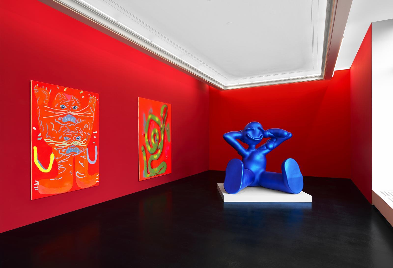 "Installation view,Austin Lee,**""Aah"", Peres Projects, Berlin, 2020,  Photo: Matthias Kolb"