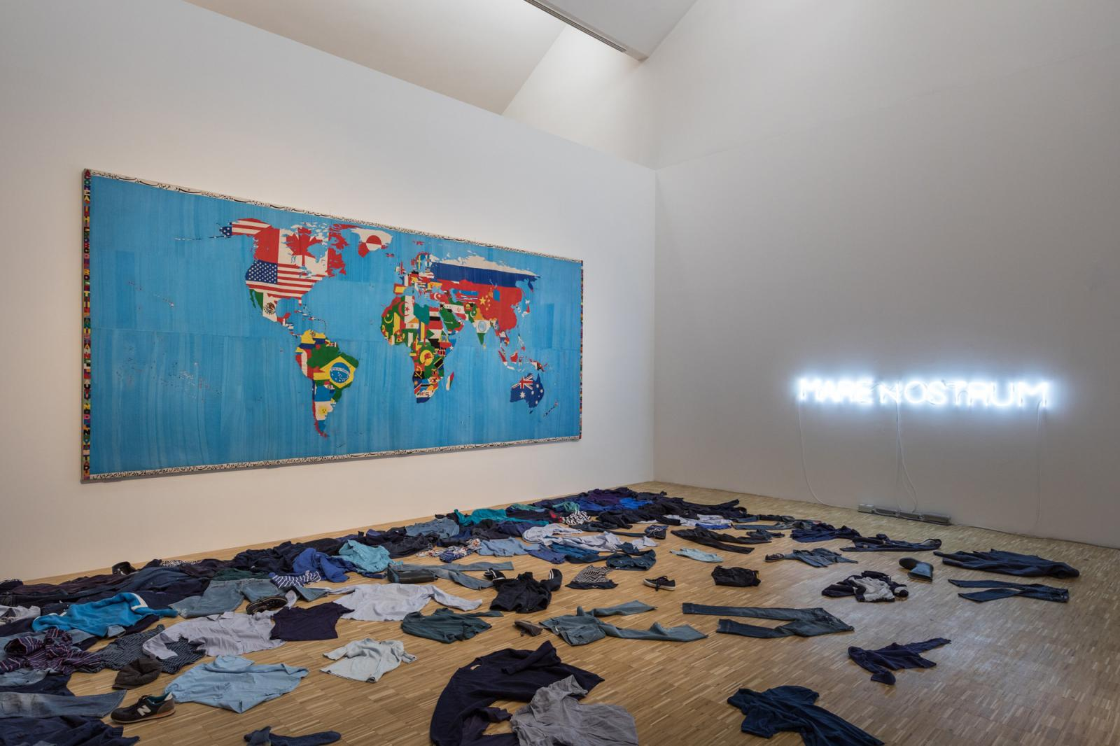 """The Restless Earth""; installation view Photo: Gianluca di Ioia"
