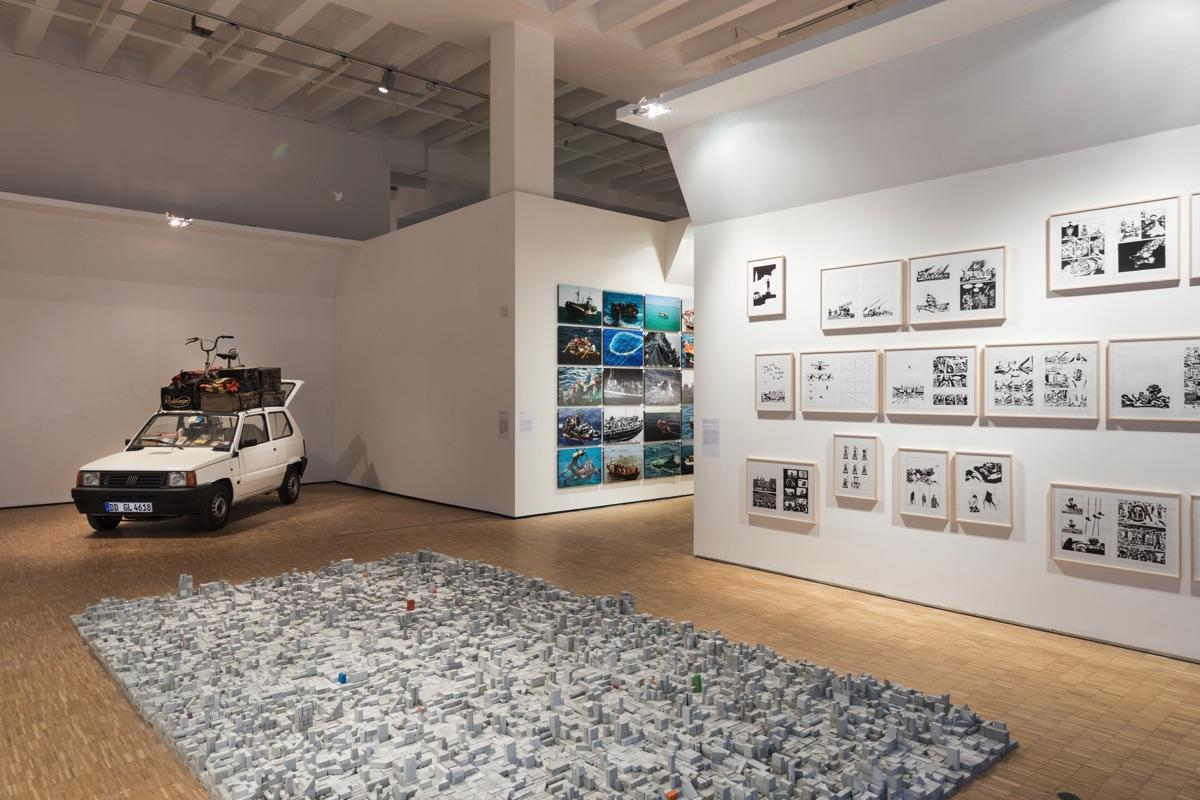 """""""The Restless Earth""""; installation view Photo: Gianluca di Ioia"""