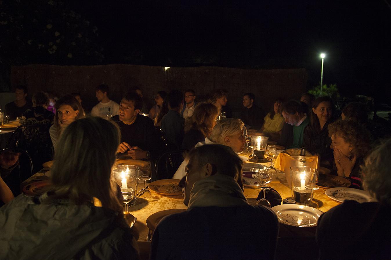 Dinner at Zurro at the opening night Photo:Giovanna Silva Courtesy Fiorucci Art Trust, London