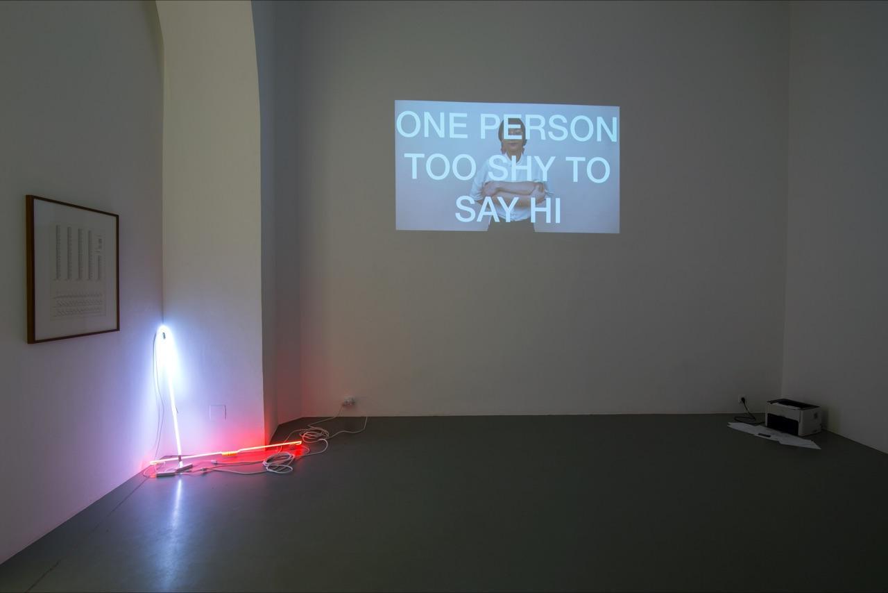 """""""KI. Künstlerische Intelligenz"""" (installation view, 2017) Courtesy Galerie Crone  curated by Paul Feigelfeld,Galerie Crone"""