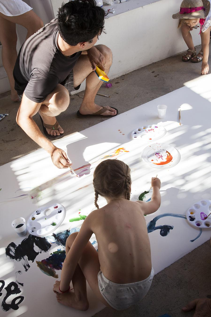 David Horvitz /Paint the Wind/ Watercolour workshop as part of Day 4: /Danger and Eroticism of Distances/ Photo:Giovanna Silva Courtesy Fiorucci Art Trust, London
