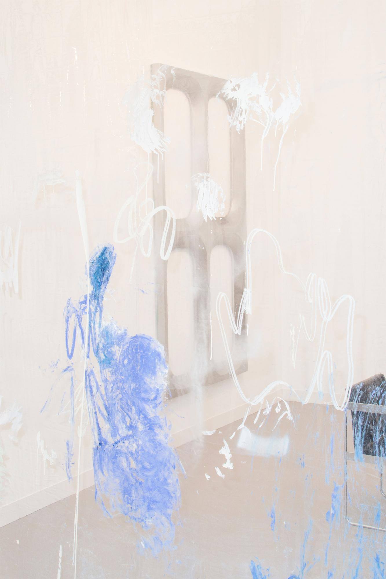 Donna Huanca (front), Blair Thurman (back) at Peres Projects