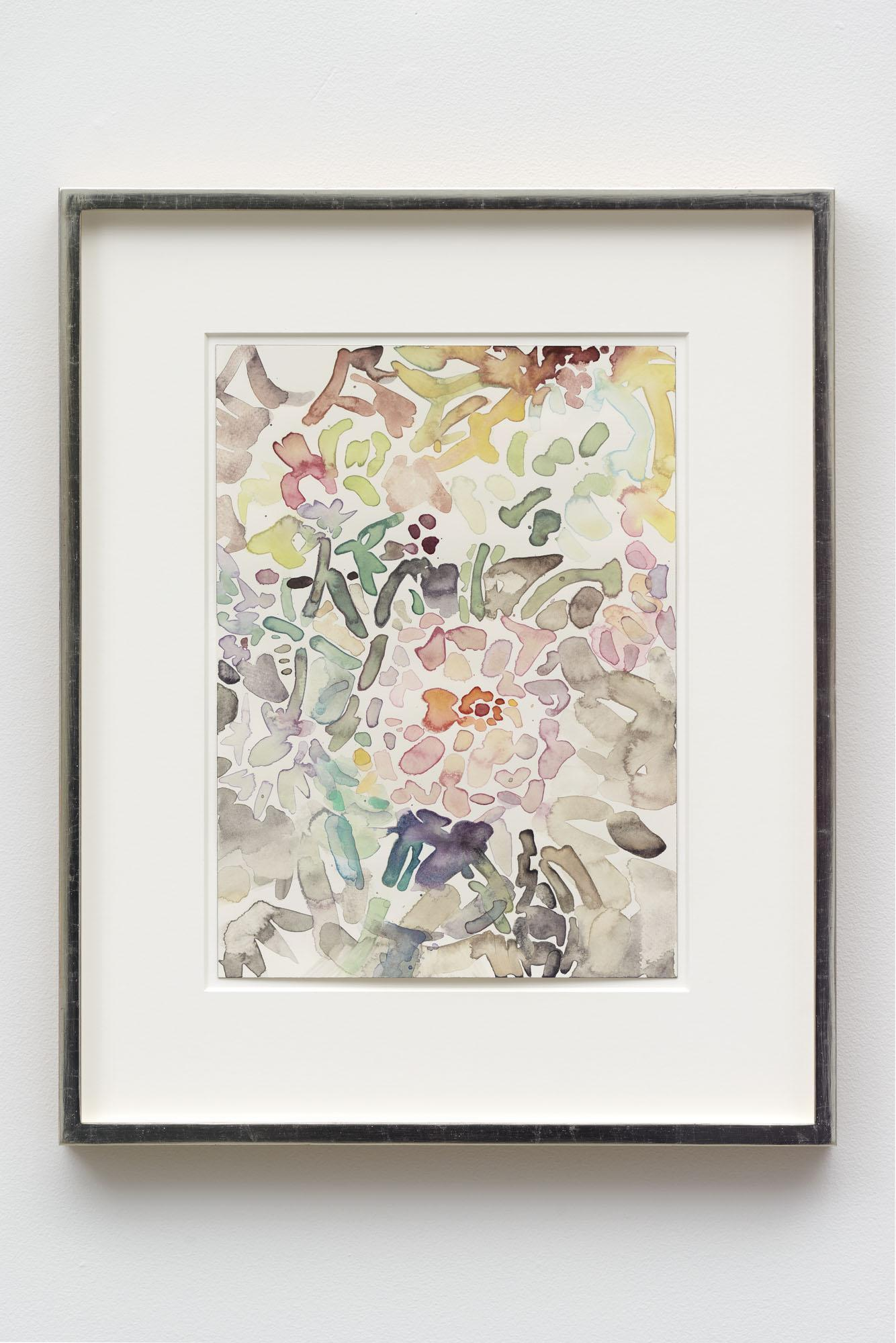 Elizabeth Peyton, /Wildflowers/, 2020, watercolor on paper, 14 × 10 inches;  35.6 × 25.4 cm, 43.8 × 54 cm (framed)