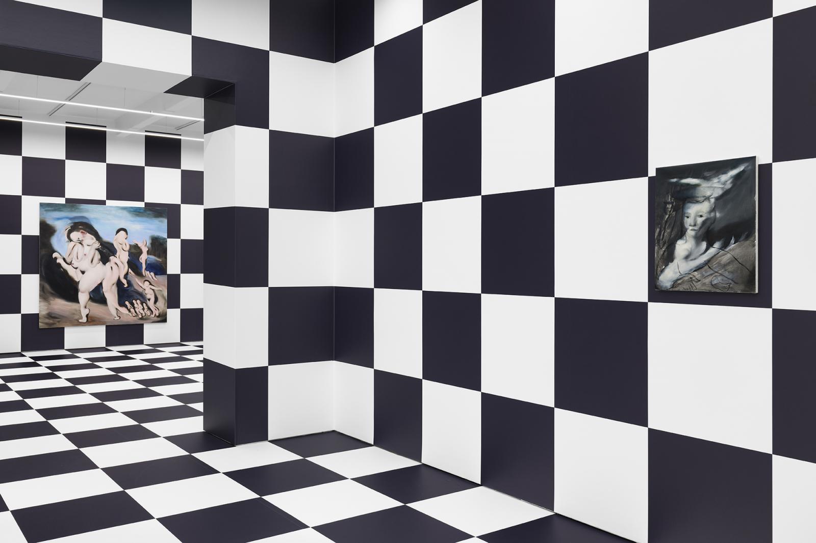"Installation view, Ambera Wellmann,//""Logic of Ghosts"", Kraupa-Tuskany  Zeidler, Berlin, 2020; Photo: def-image"