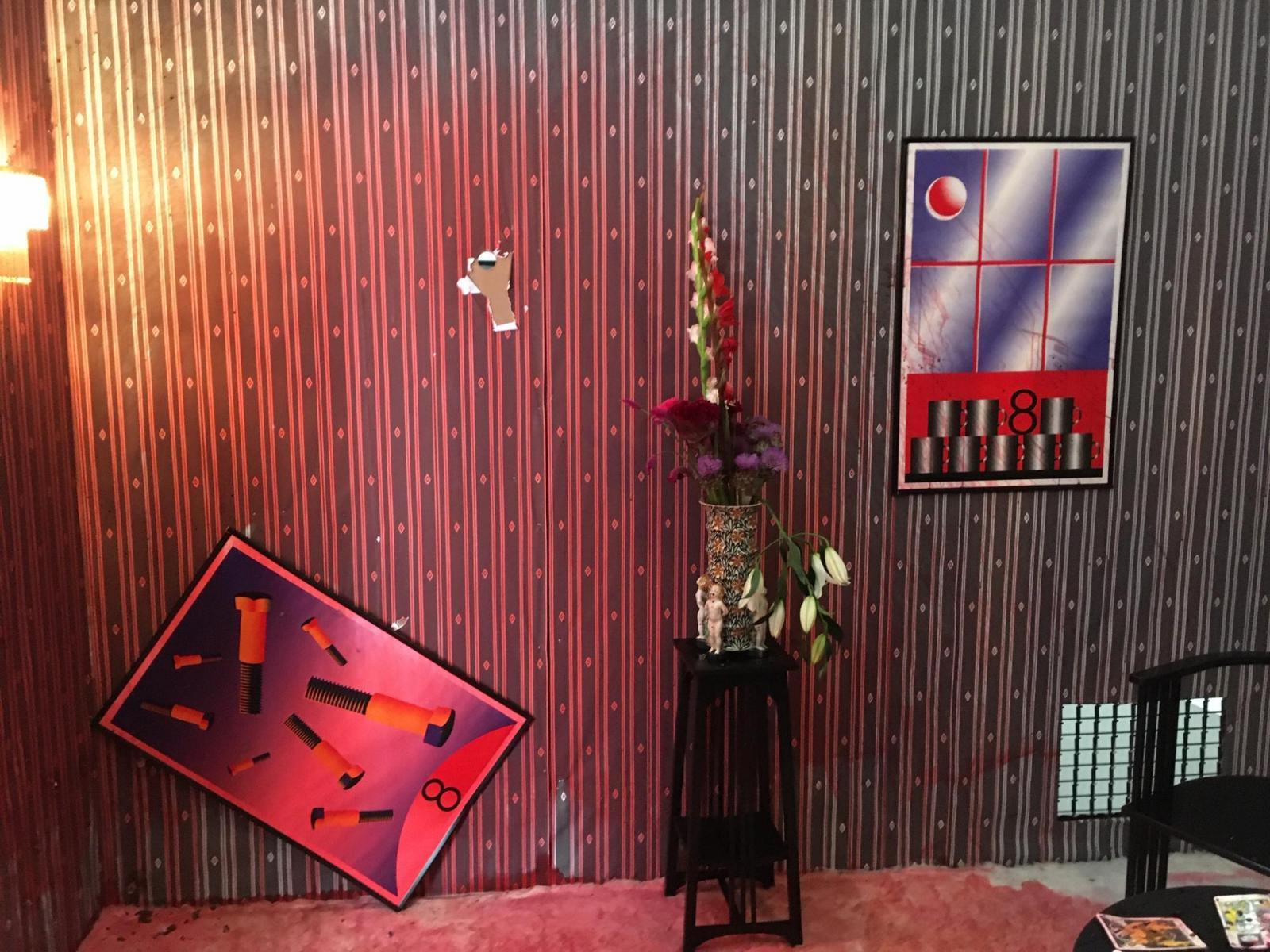 """Charim Galerie Wien, curated by Brigitte Huck Exhibition view, """"Murderkino""""by Scott Cliford Evans, 2020"""