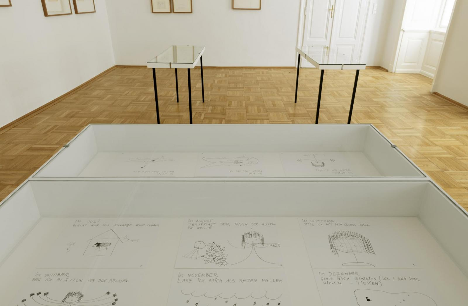 """Galerie Nächst St. Stephan Rosemarie Schwarzwälder;curated byHans  Ulrich Obrist, 2020; Exhibition view, """"Schutzgeister"""", Friederike Mayröcker  Photo: © Markus Wörgötter"""