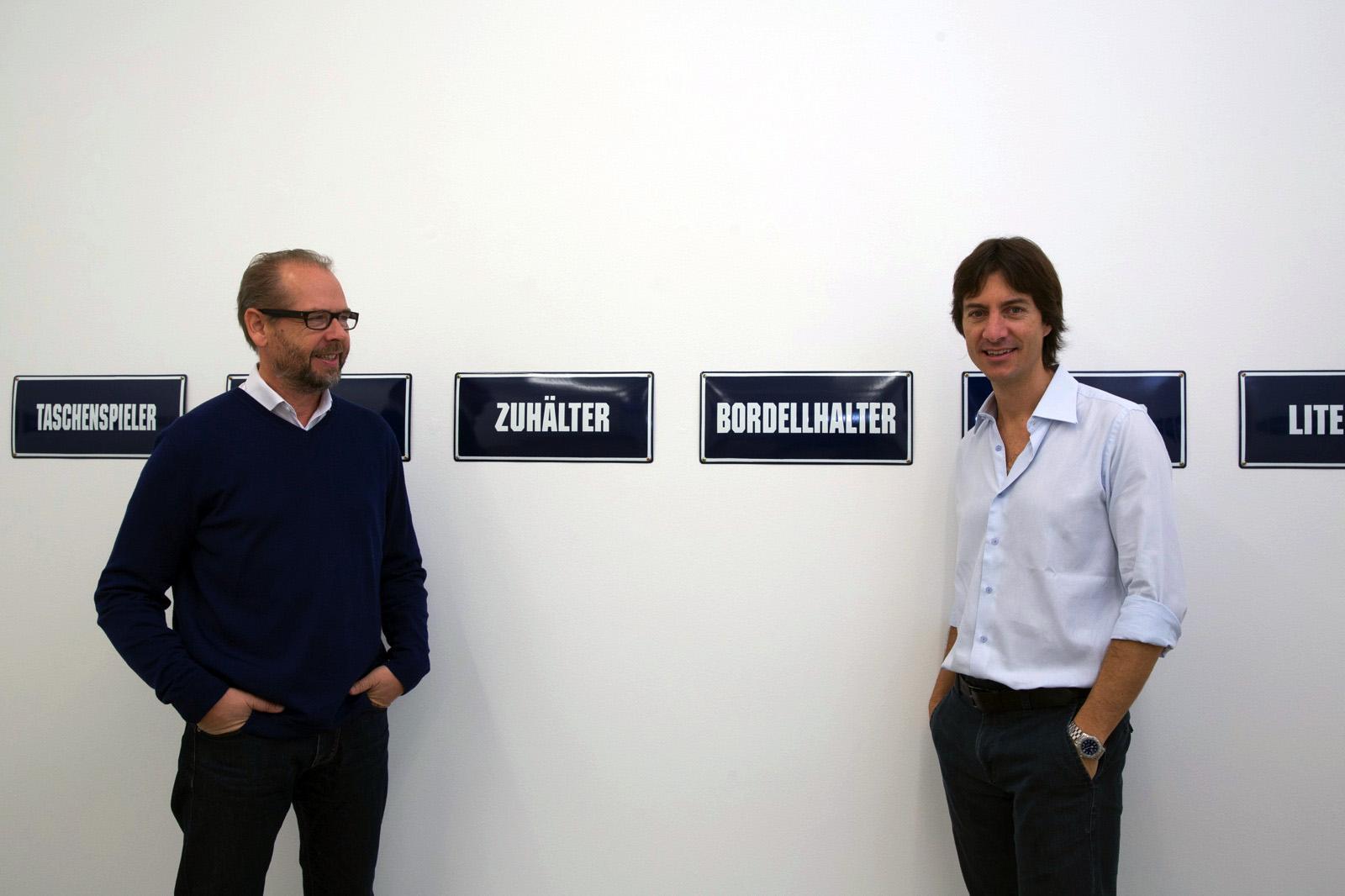 Gallerist Martin Janda with curatorJacopo Crivelli Visconti Photo:eSeL