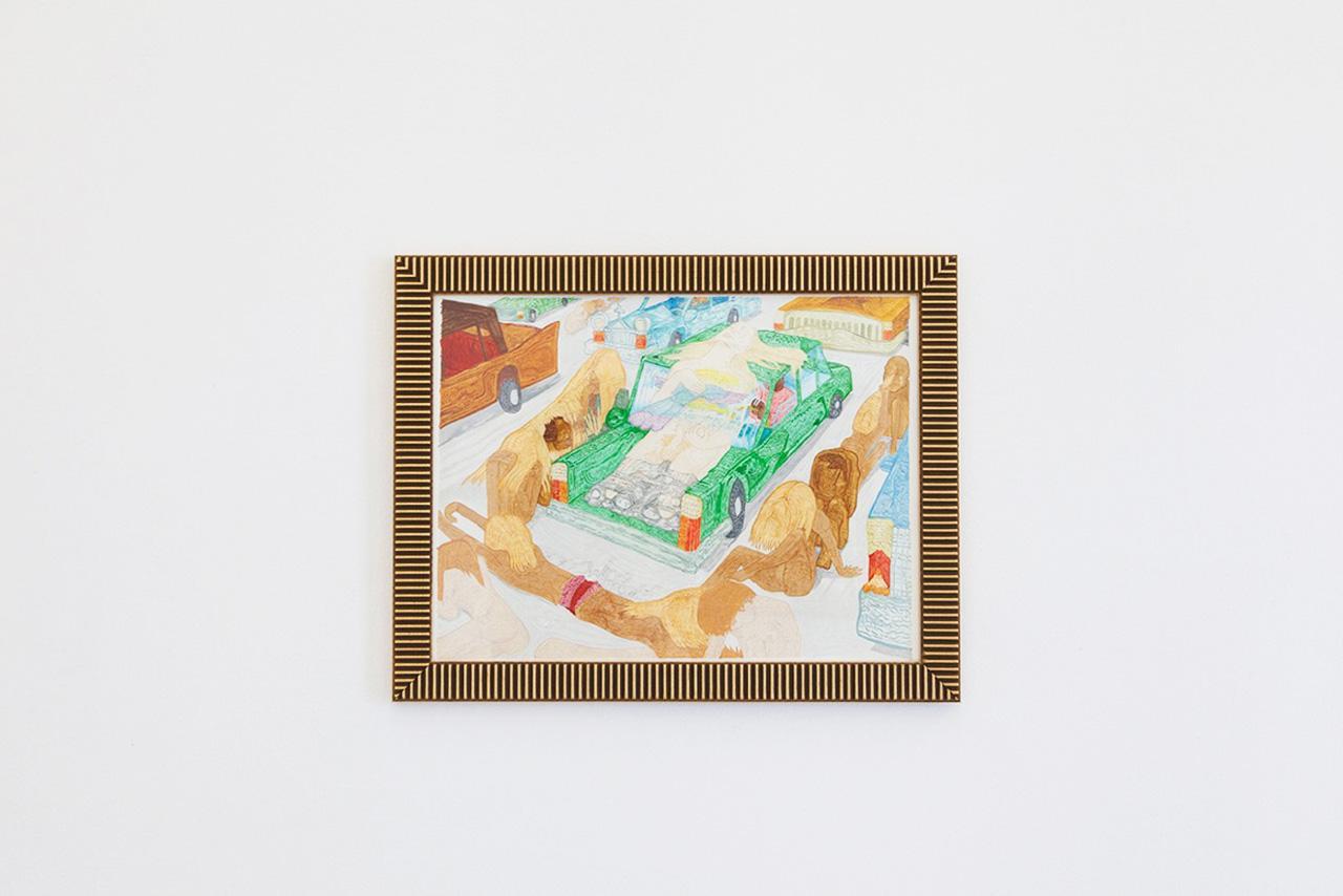 "Walter Sutin, /Augury/, 2015 Pen and Ink, 37 x 28 cm Installation view ""I Will Go Where I Don't Belong"" Photo:Giovanna Silva Courtesy Fiorucci Art Trust, London"
