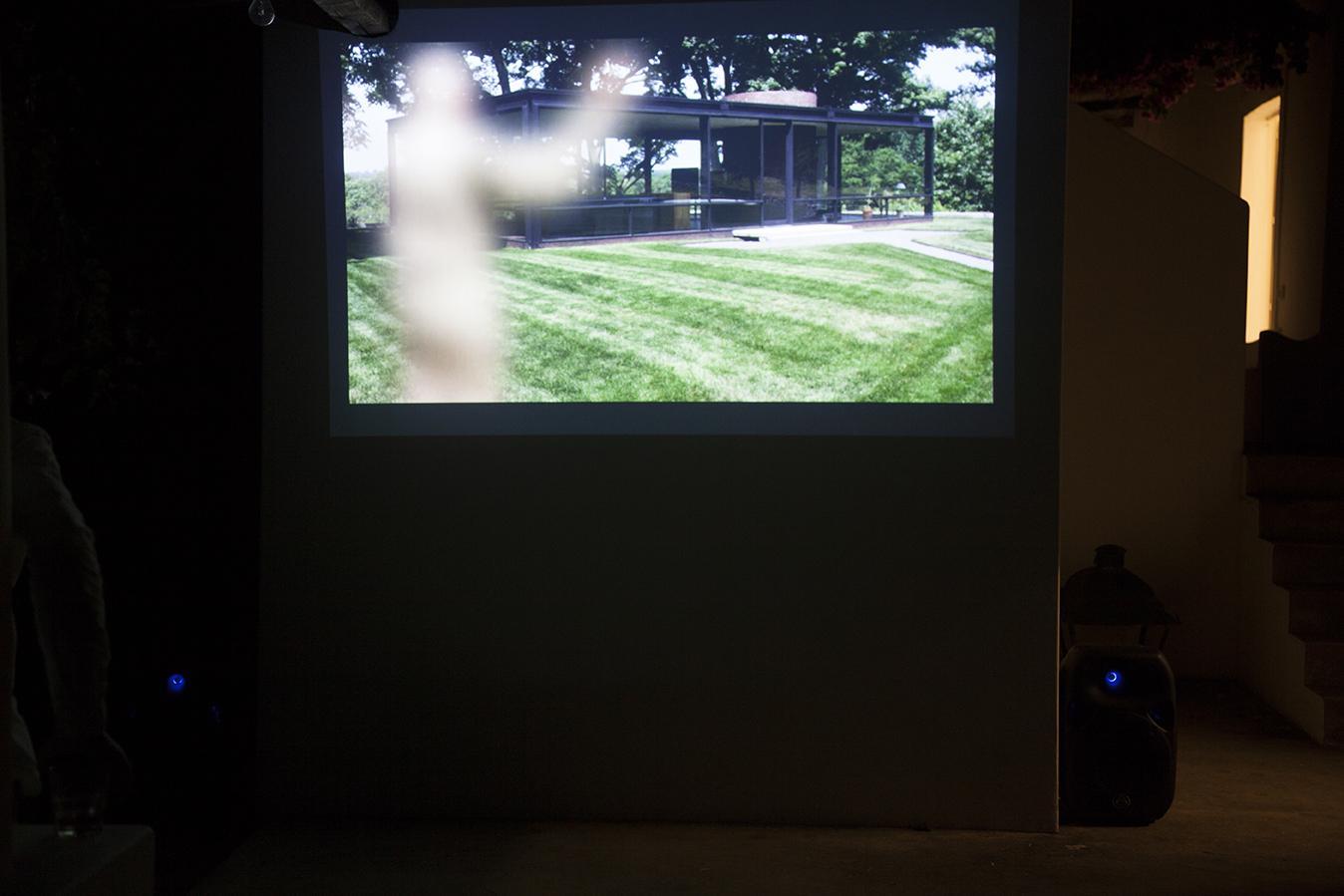 "Screening of Rachel Rose, /A Minute Ago/, 2014 HD Video, 8:43 min Installation view ""I Will Go Where I Don't Belong"" Copyright Rachel Rose. Courtesy Gavin Brown's enterprise, New York /  Rome.Photo:Giovanna Silva. Courtesy Fiorucci Art Trust, London"