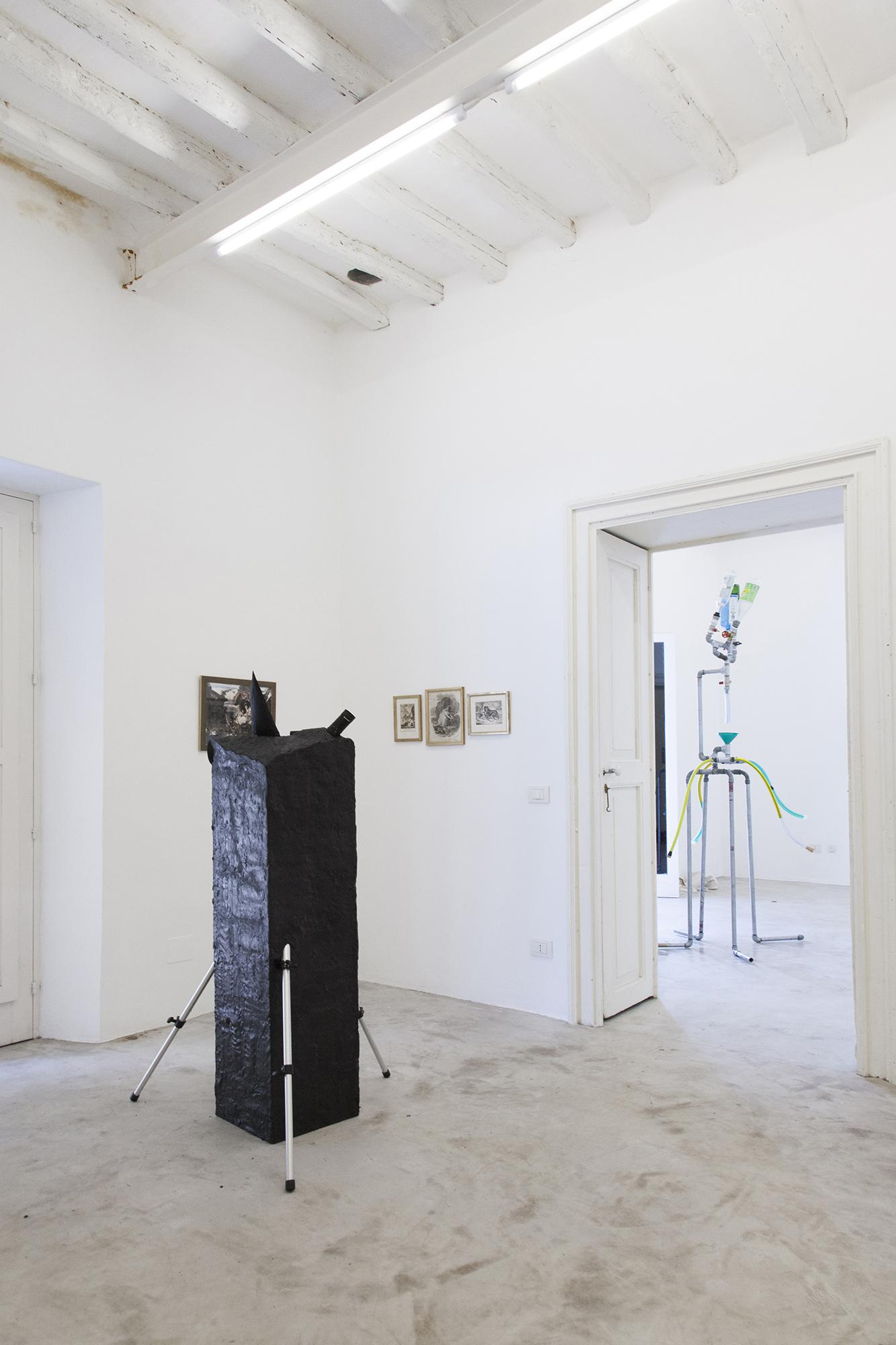 "Isola e Norzi /Elsewhere/, 2008 Telescope, tripod, Plasticine 90 x 90 x 150 cm Installation view ""I Will Go Where I Don't Belong"" Photo: Giovanna Silva Courtesy Fiorucci Art Trust, London"