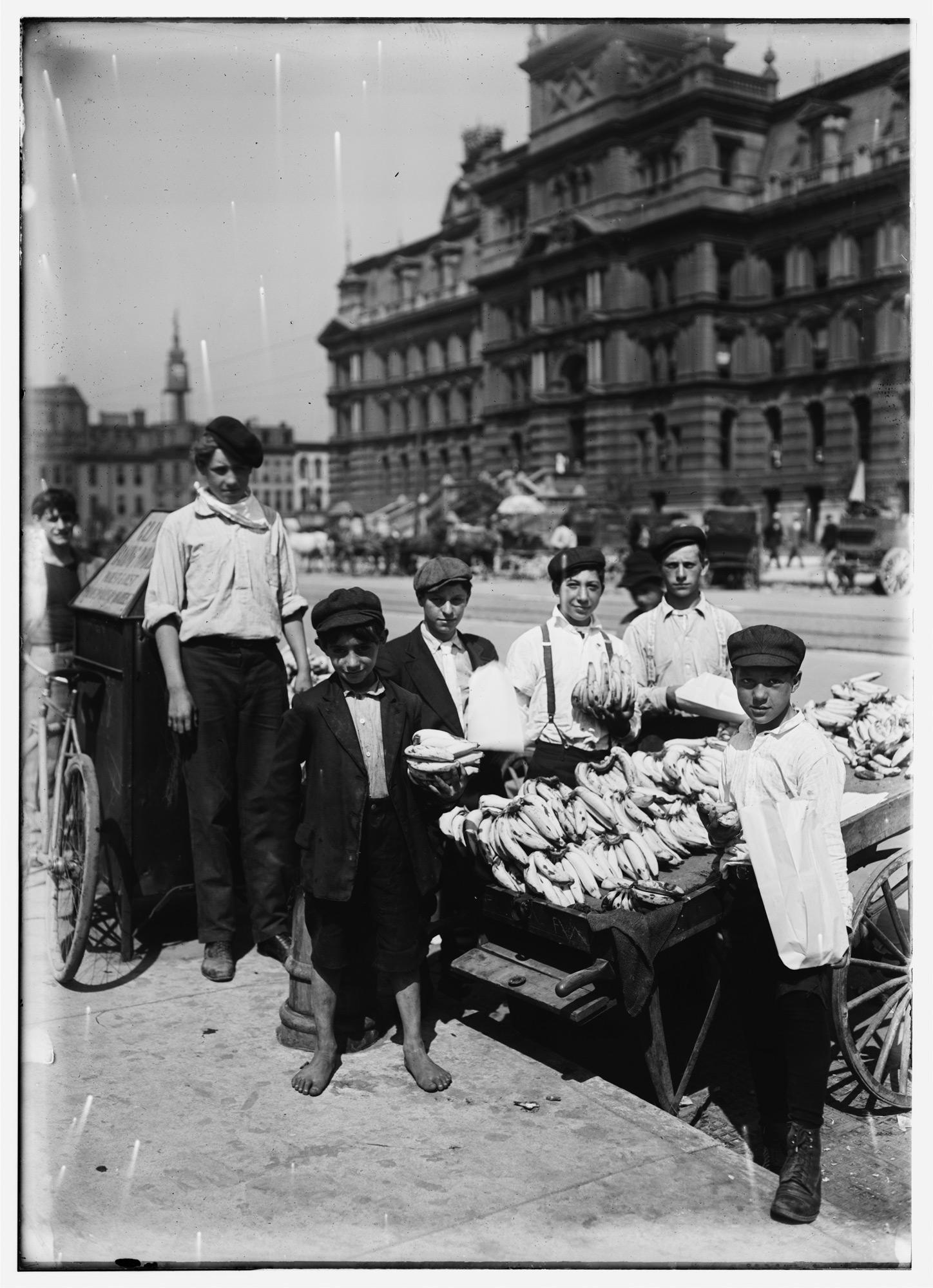 Lewis Wickes Hine /Indianapolis fruit venders, Italian boys, Indiana, August /(1908)