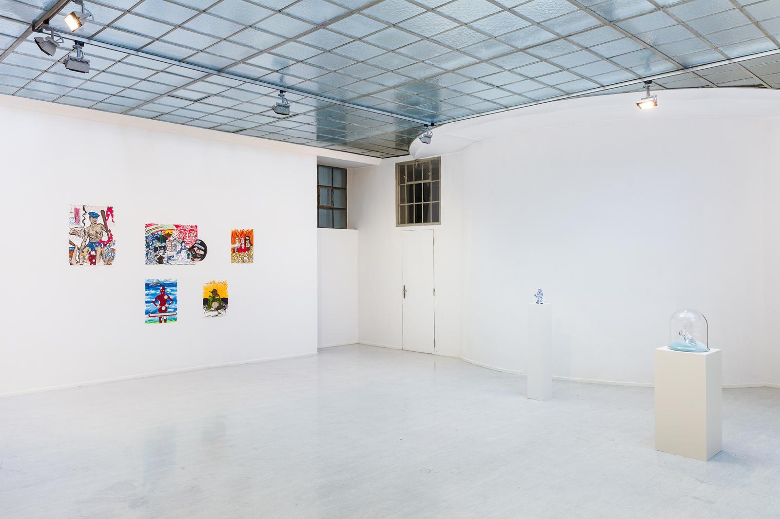 "Georg Kargl Fine Arts, curated by Alistair Hicks; Exhibition view, ""Hybridish"", 2020; © Georg Kargl Fine Arts  Photo: kunst-dokumentation.com"