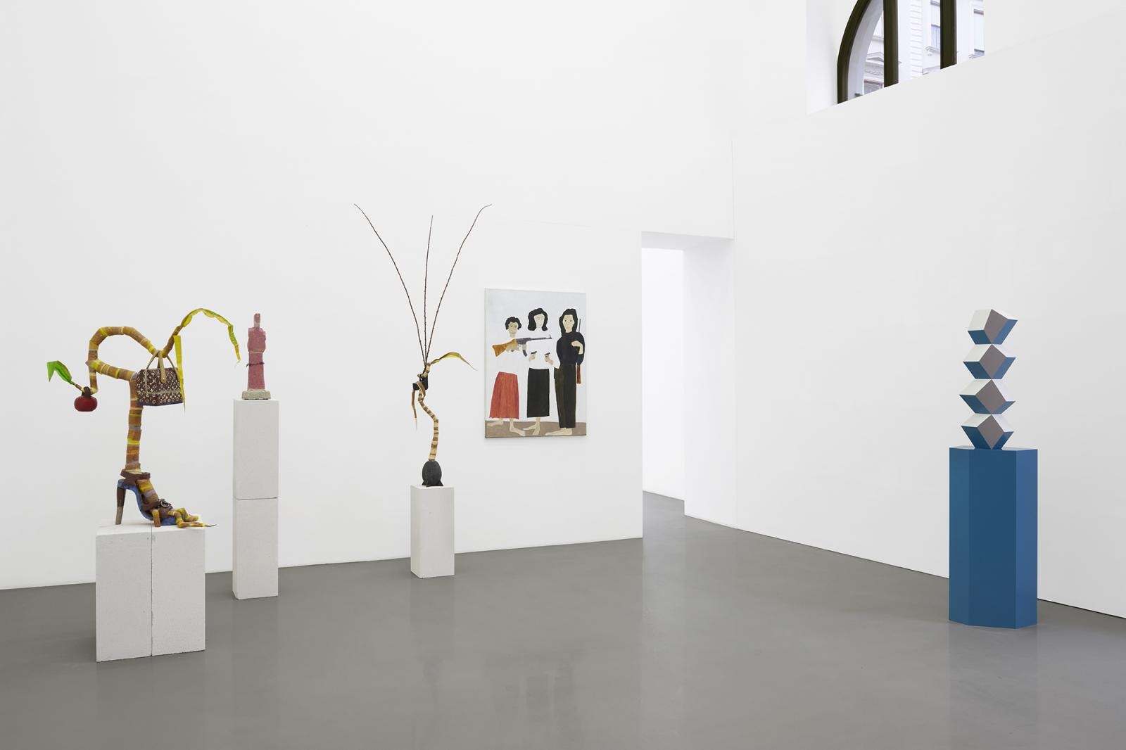 "Galerie Meyer Kainer,curated by Sarah Lucas und Kris Lemsalu, 2020; Exhibition view, ""SEÑORA!""; Courtesy Galerie Meyer Kainer, Wien  Foto: Marcel Koehler"