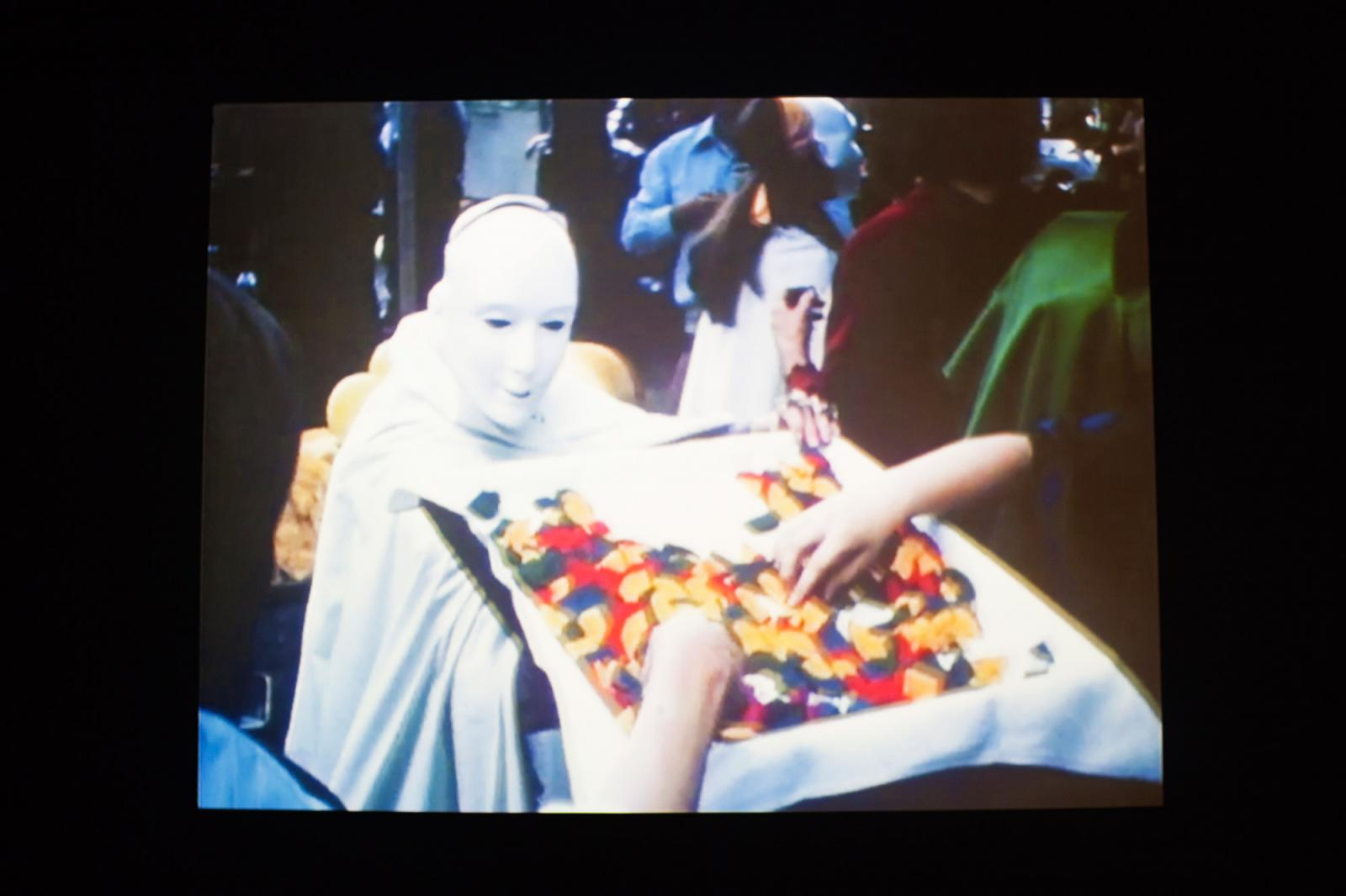 Antoni Miralda, Joan Rabascall, Dorothée Selz /Edible Performance /(2017, video still) Photo: Italo Rondinella