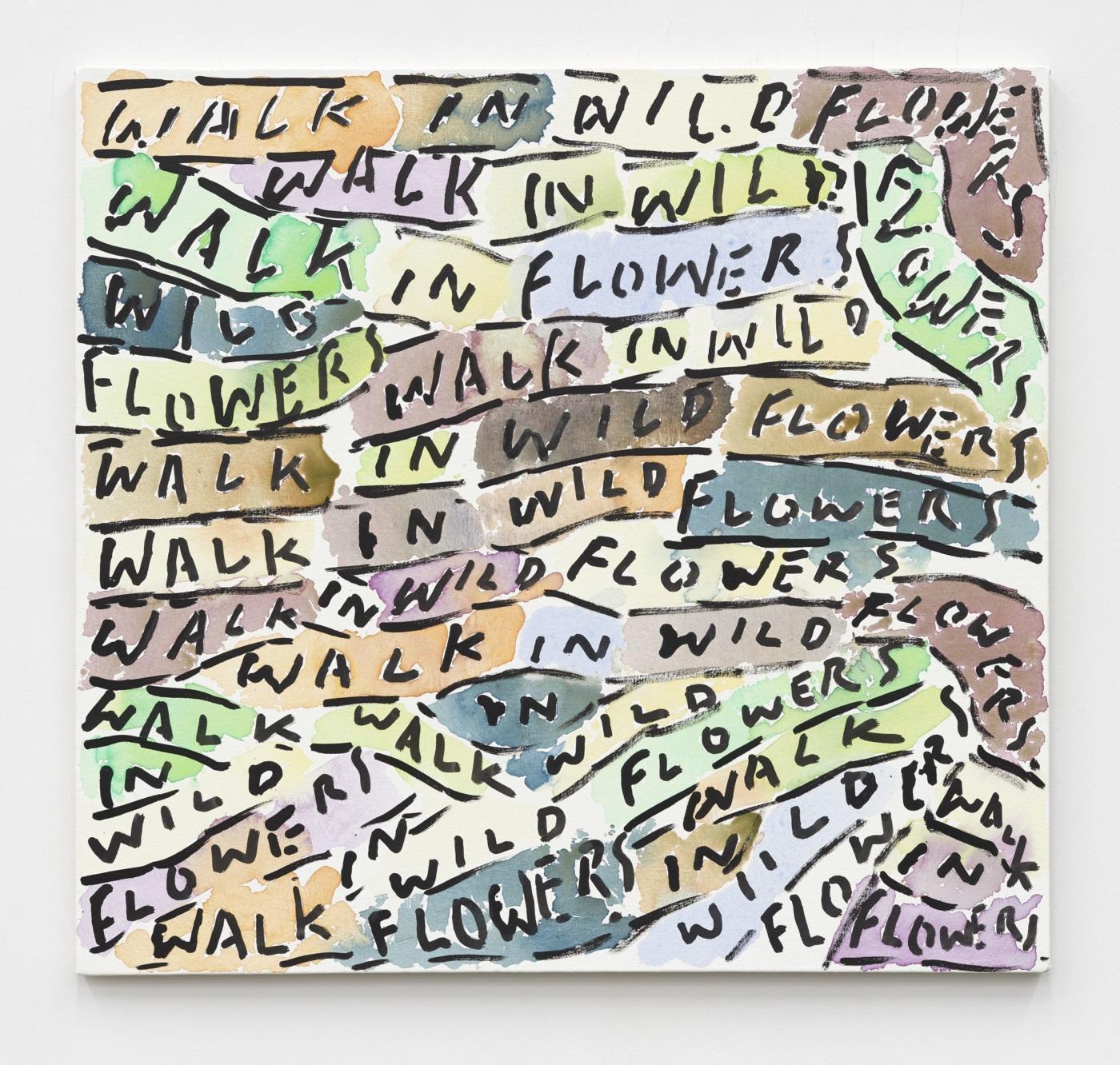 James Harrison,/WALK IN/, 2020, acrylic on canvas, 71.12 × 76.2 cm