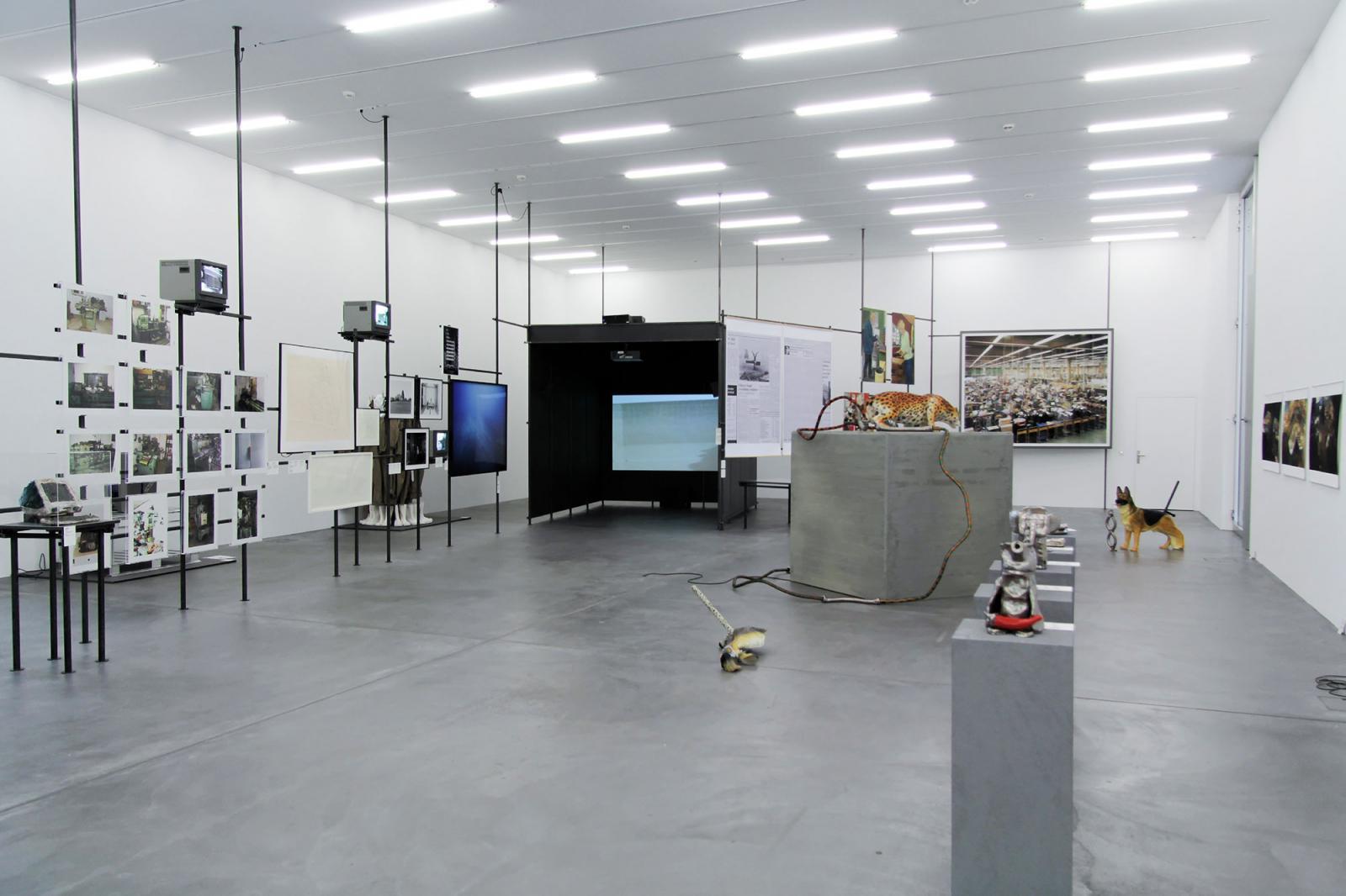 """Installation view """"Working Worlds"""" section at Löwenbräukunst Photo: Manifesta 11 / Wolfgang Träger"""