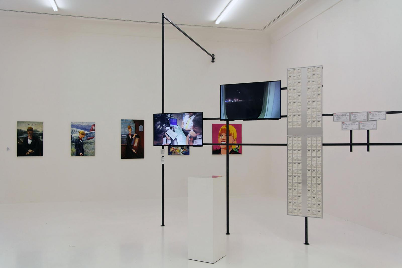 "Installation view ""Professions Performing in Art"" section at Helmhaus Photo: Manifesta 11 / Wolfgang Träger"