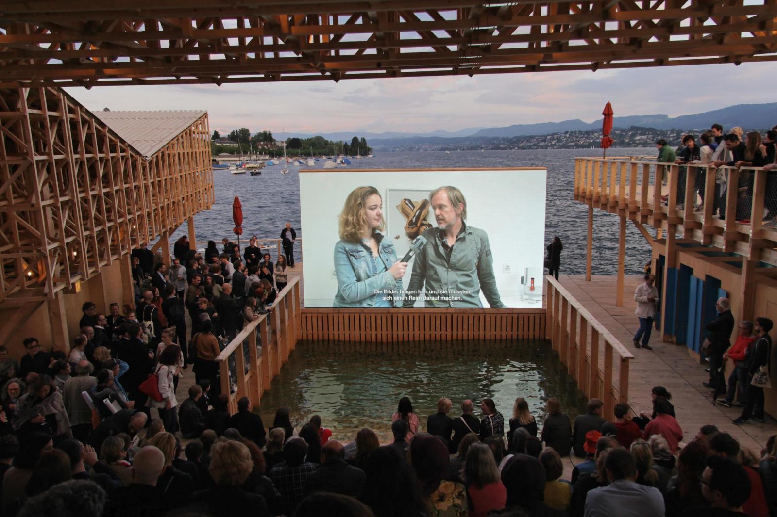 Film screening at the Pavillon of Reflections Photo: Manifesta 11 / Wolfgang Träger