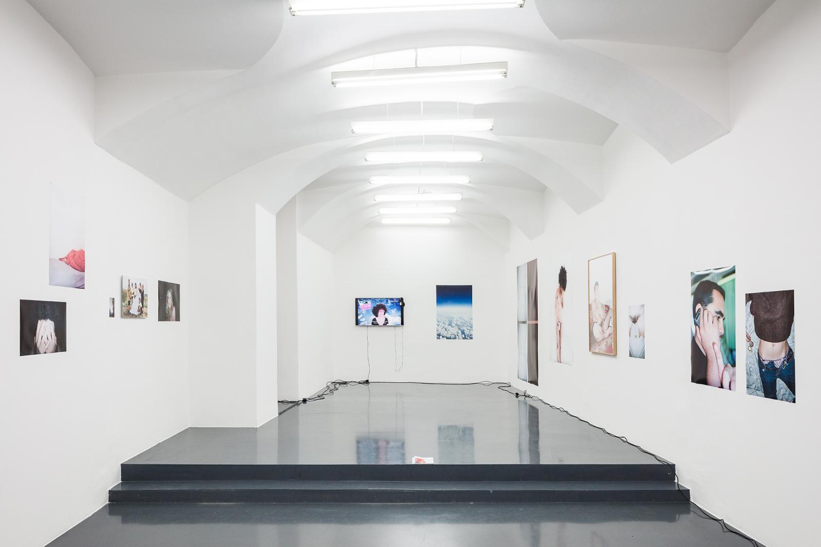"""Gallery Emanuel Layr,curated by Lili Reynaud-Dewar and Olga Rozenblum,  2020; Exhibition view,""""Propaganda Women"""""""