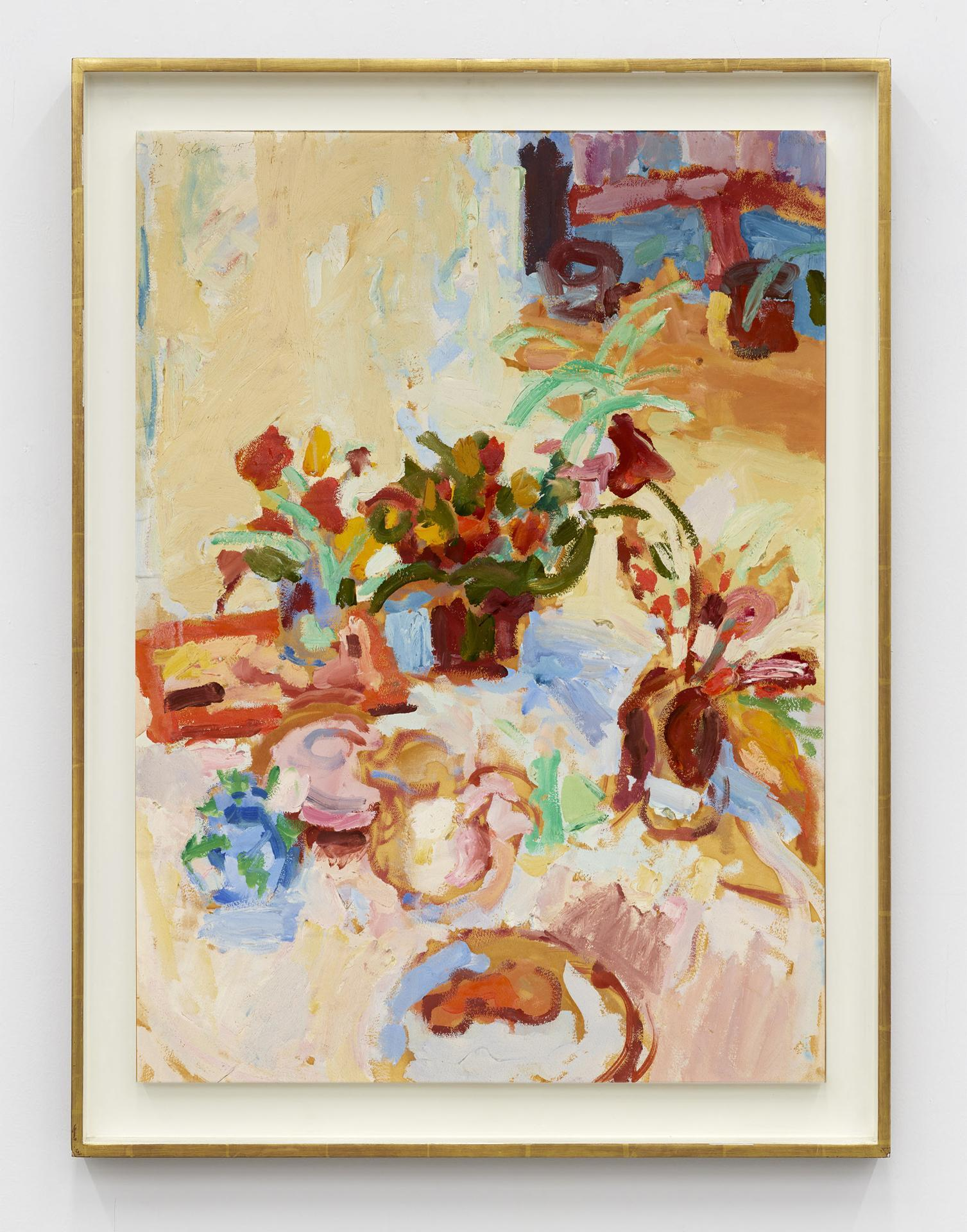Nell Blaine, /Untitled/, 1957, oil on canvas laid to Masonite, 76.2 × 55.88  cm