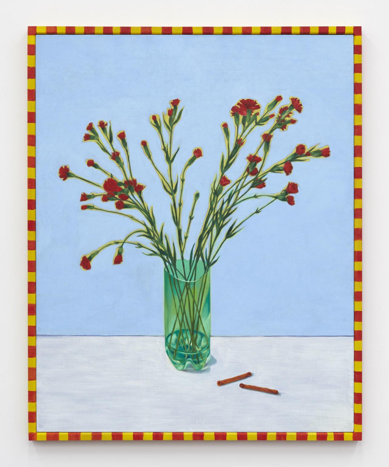 Nicole Eisenman,/Still Life with Takis/, 2020, oil on linen with artist's  frame, 106 × 85.1 × 3.2 cm