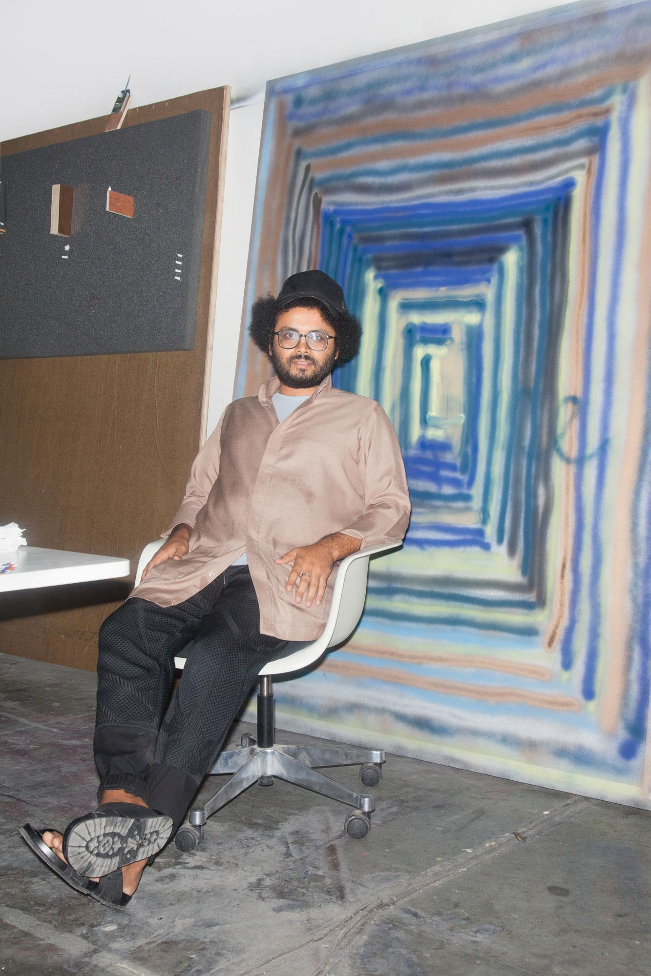 Rami Farook in his studio