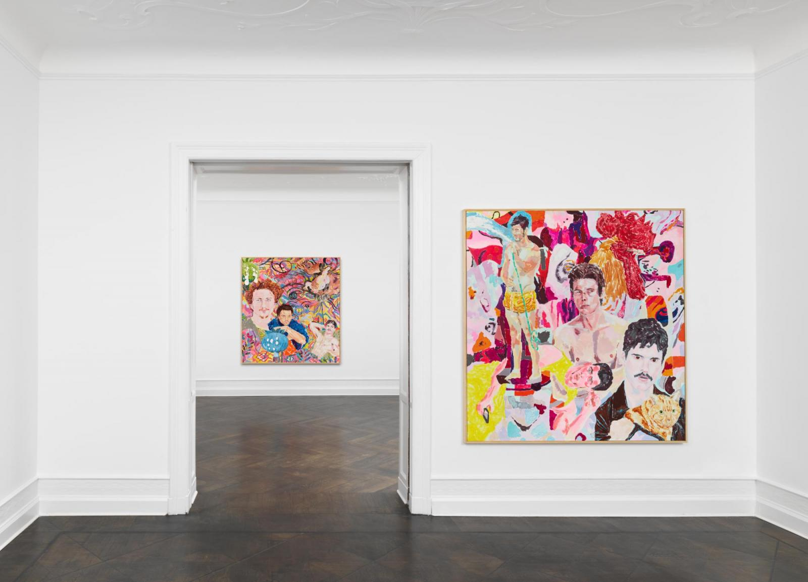 Installation view, Richard Hawkins, Galerie Buchholz, Berlin, 2020