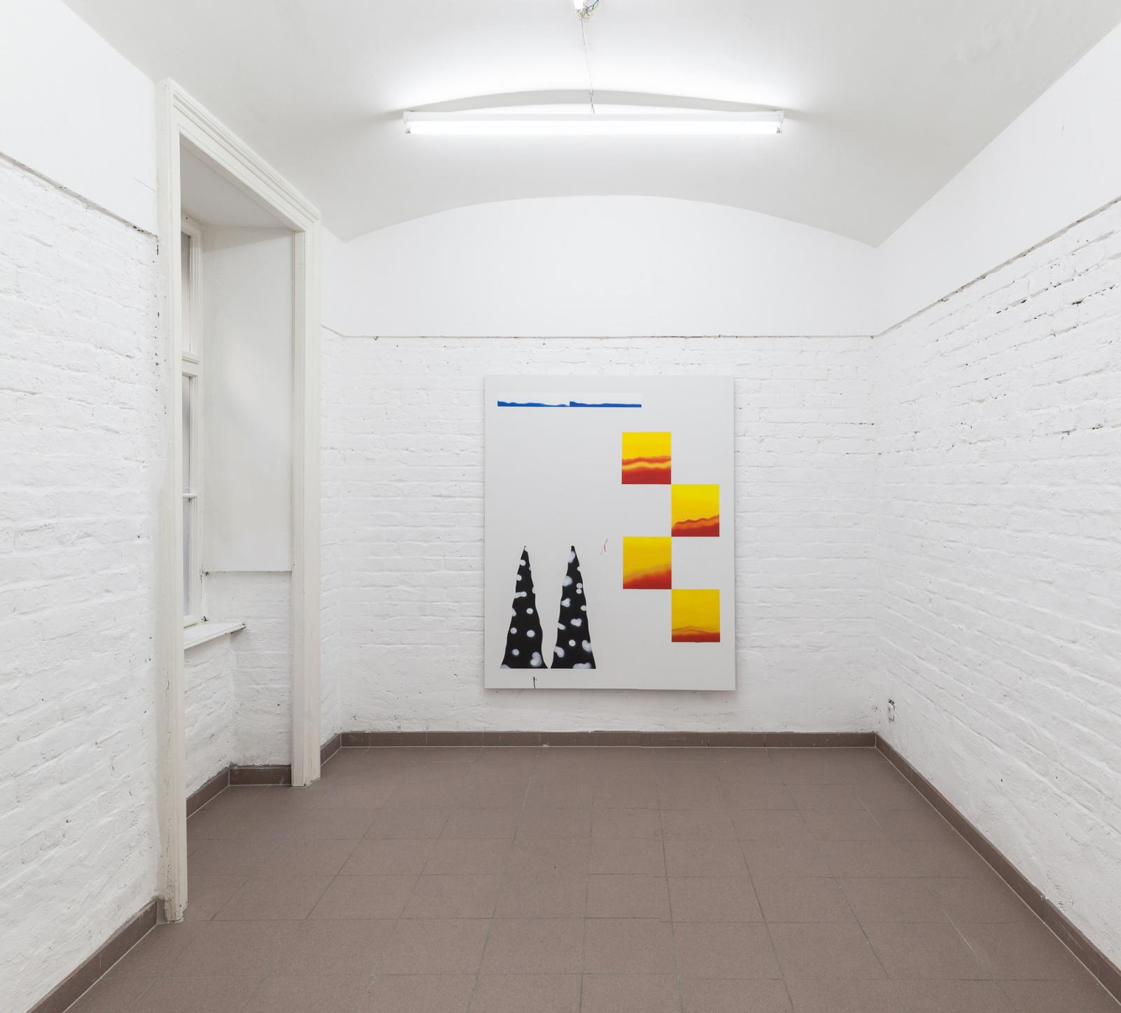 "Samuel Richardot  ""Zweitaktgemisch"" (2017); installation view at Vin Vin"