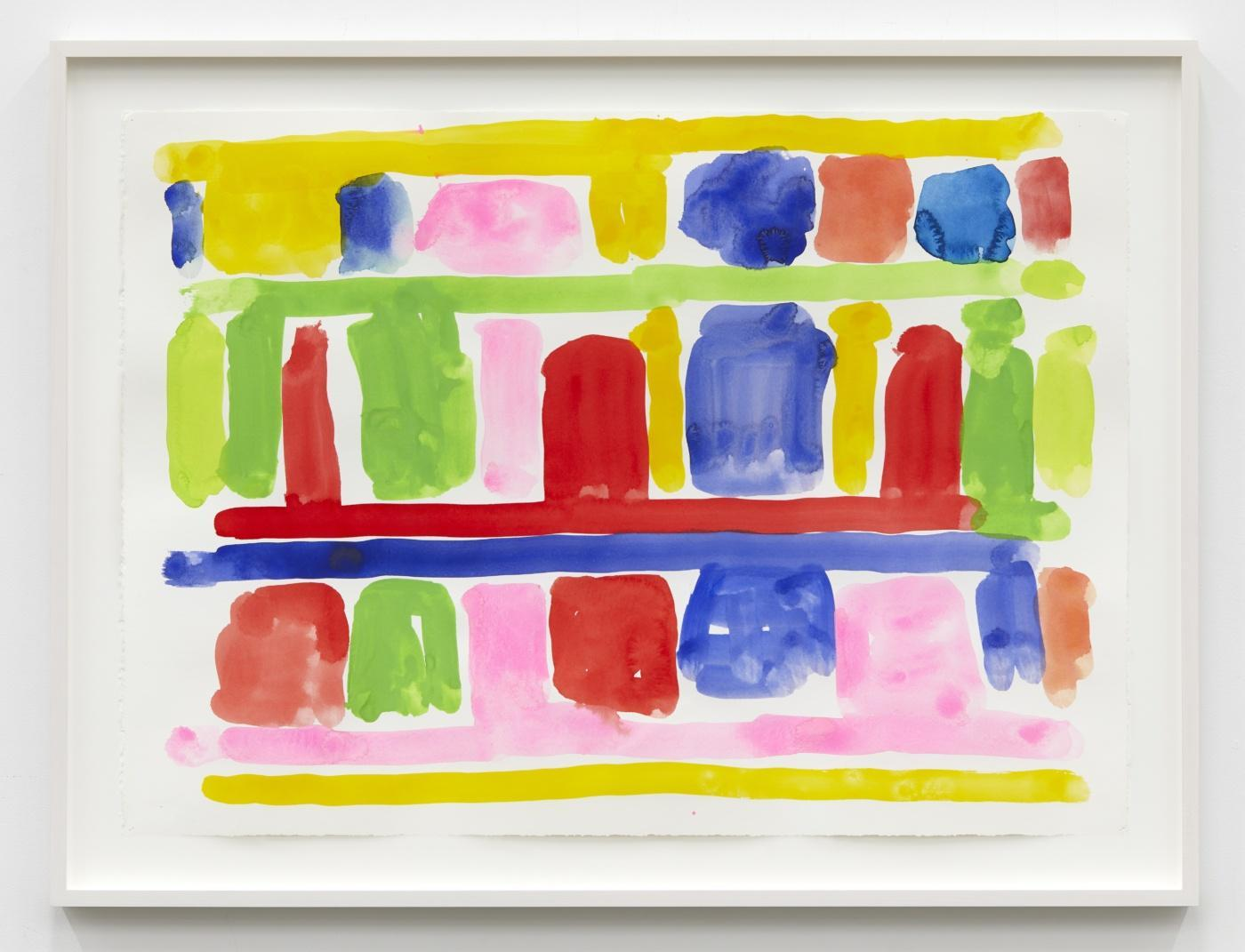 Stanley Whitney,/Untitled/, 2017, gouache on paper, 55.88 × 77.47 cm