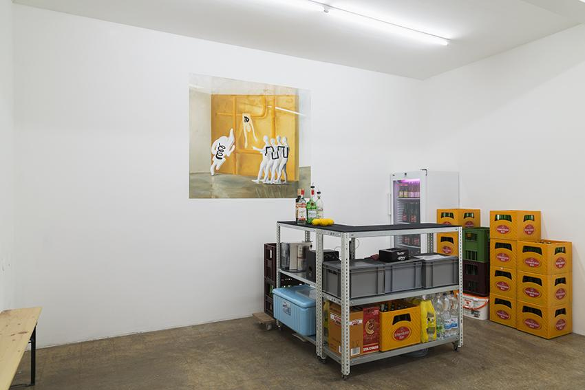 """""""sanssouci"""" (2016) installation view at Mauve"""
