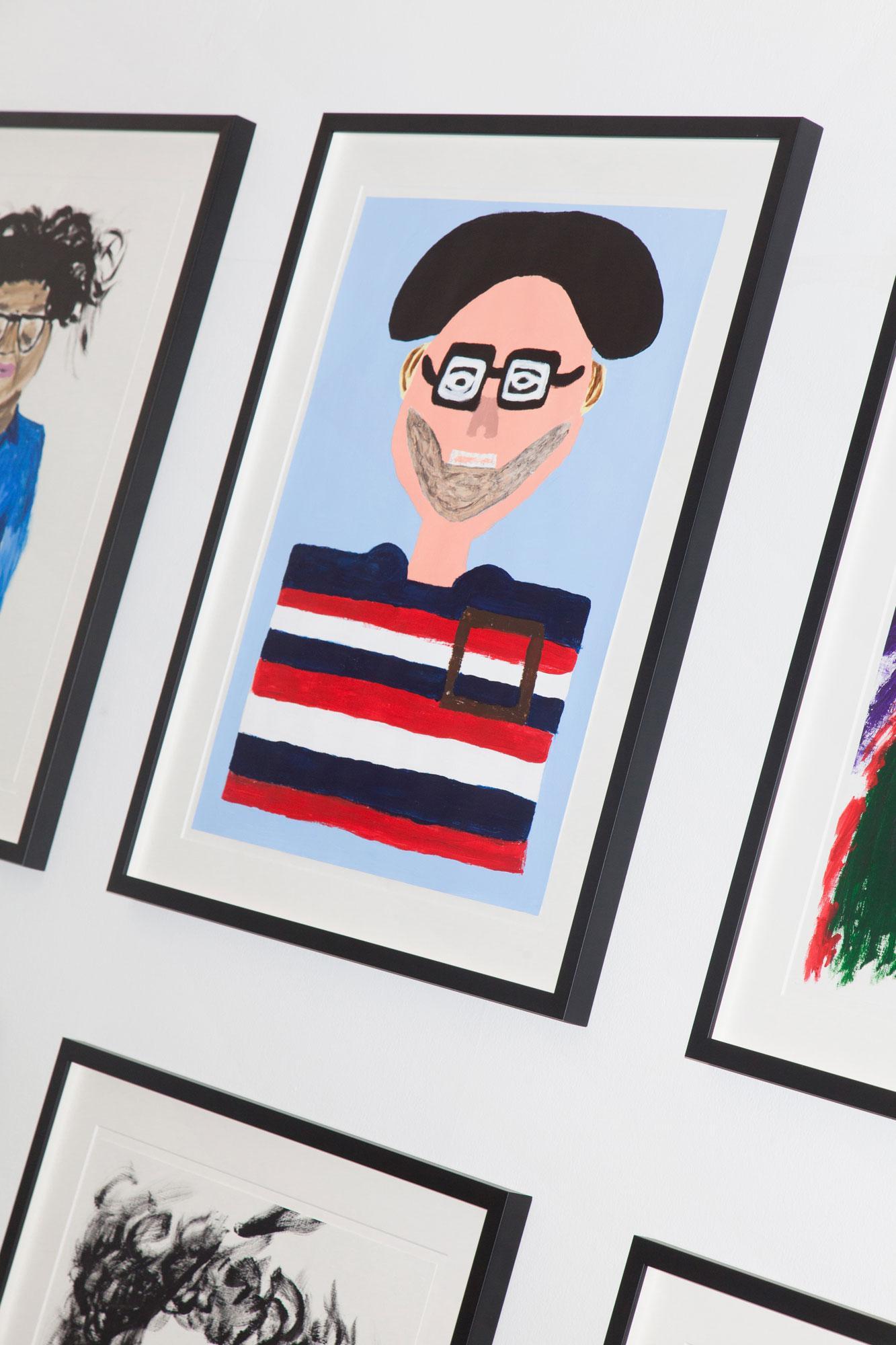 """Detail ofVikram Divecha's show """"Portrait Sessions"""""""