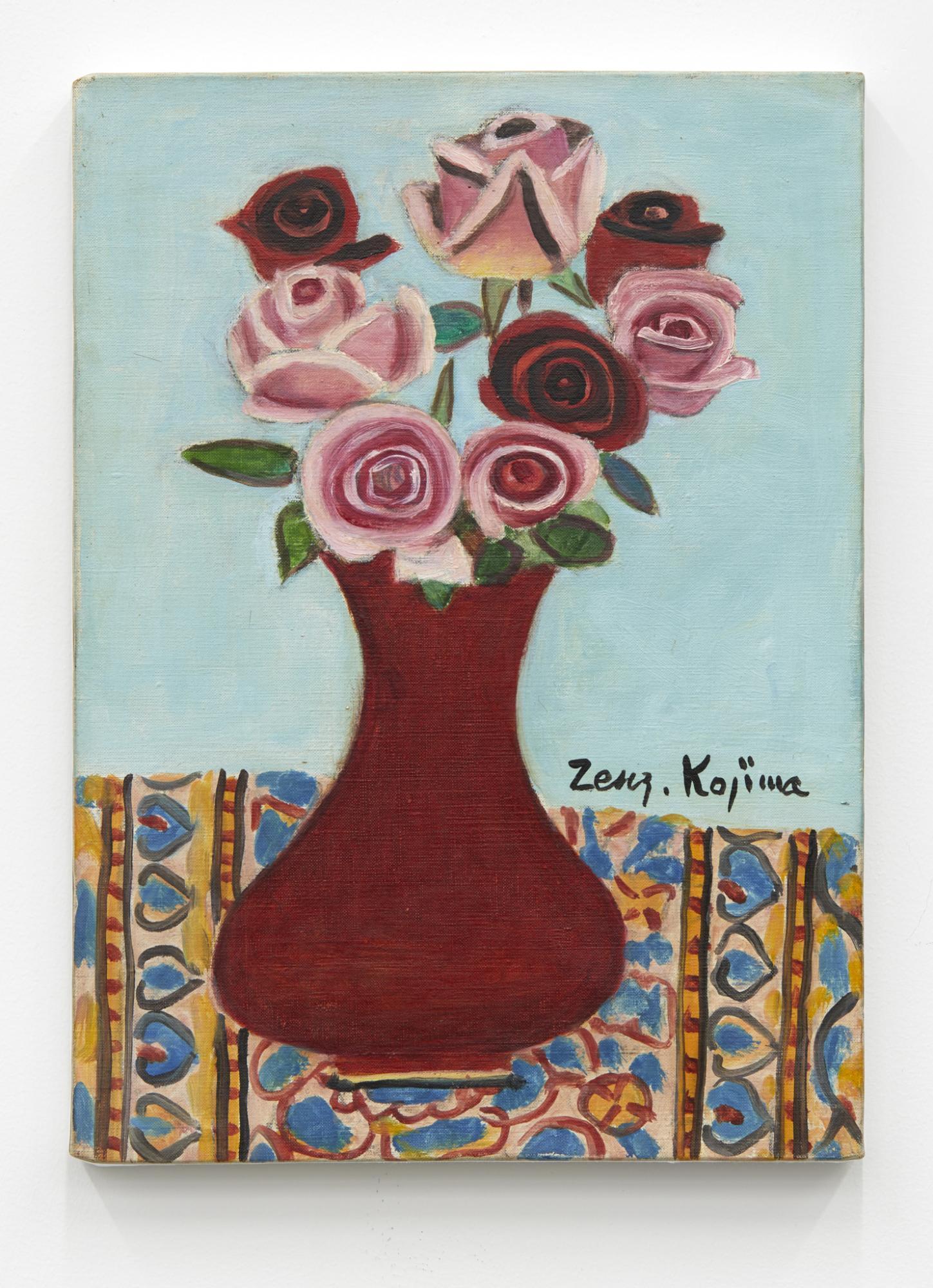 Zenzaburo Kojima,/Roses/, 1960, oil on canvas, 34× 25cm