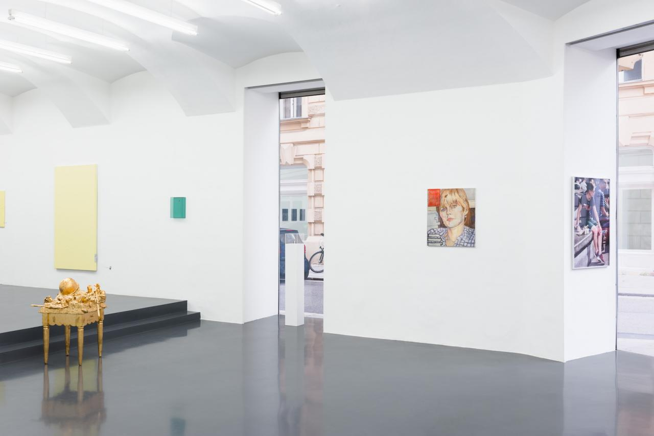 "Installation view of ""Elevation"" curated by_Robert Müller at Galerie Emanuel Layr Photo: Maximilian Anelli-Monti"