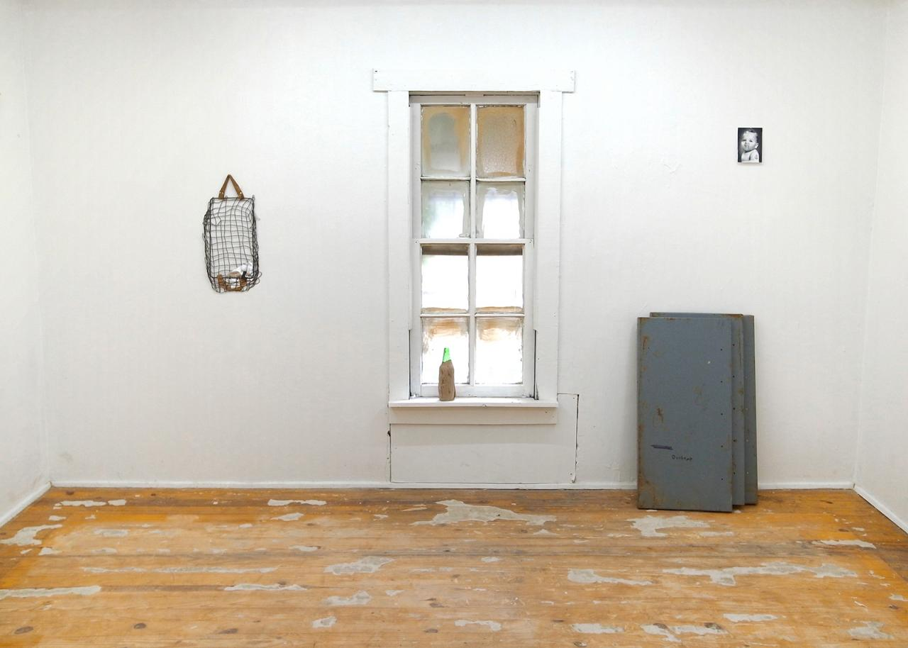 "Jake Elliott ""Slipknot MoMA"" (2017), curated by Pierre Krause, installation view at PRP, left to right: A Sculpture ( 2017), Heineken (2017), Roshenburger (2017), Dochamp (2017)"