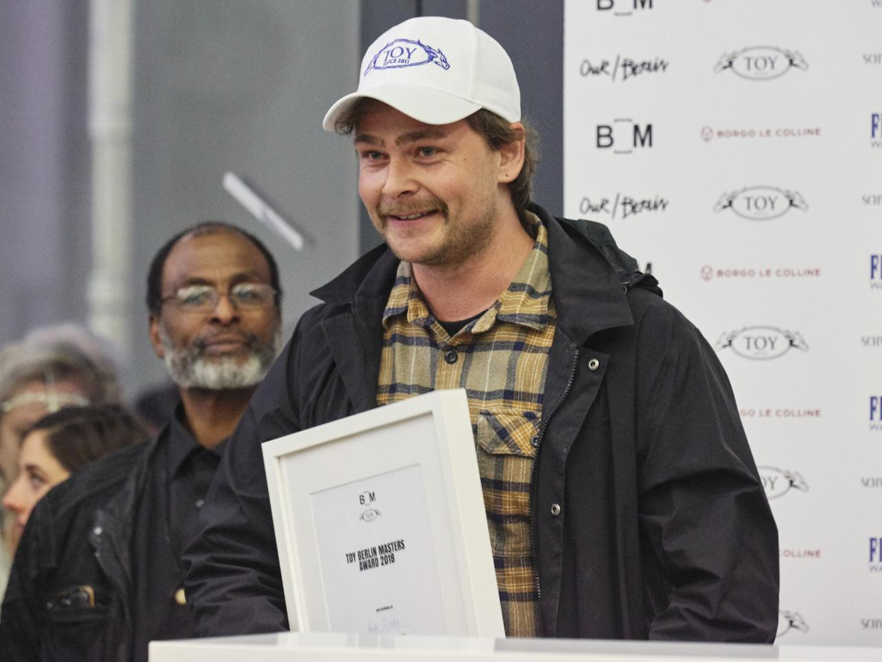 Andi Fischer at the ceremony of theToy Berlin Masters Award 2018