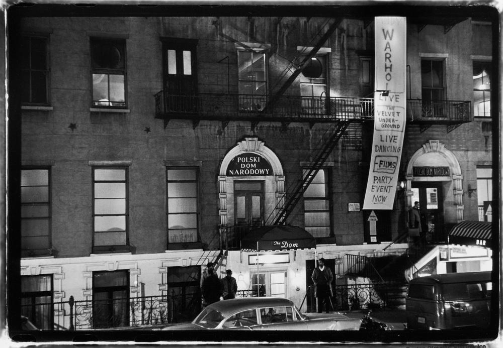 Polski Dam Nardowy (Polish National Home) at 23 St Mark's Place, above Stanley Tolkin's Dom Bar and under Andy Warhol's Mod-Dom, home to his clubnight, The Exploding Plastic Inevitable Photo by Fred W. McDarrah in 1966