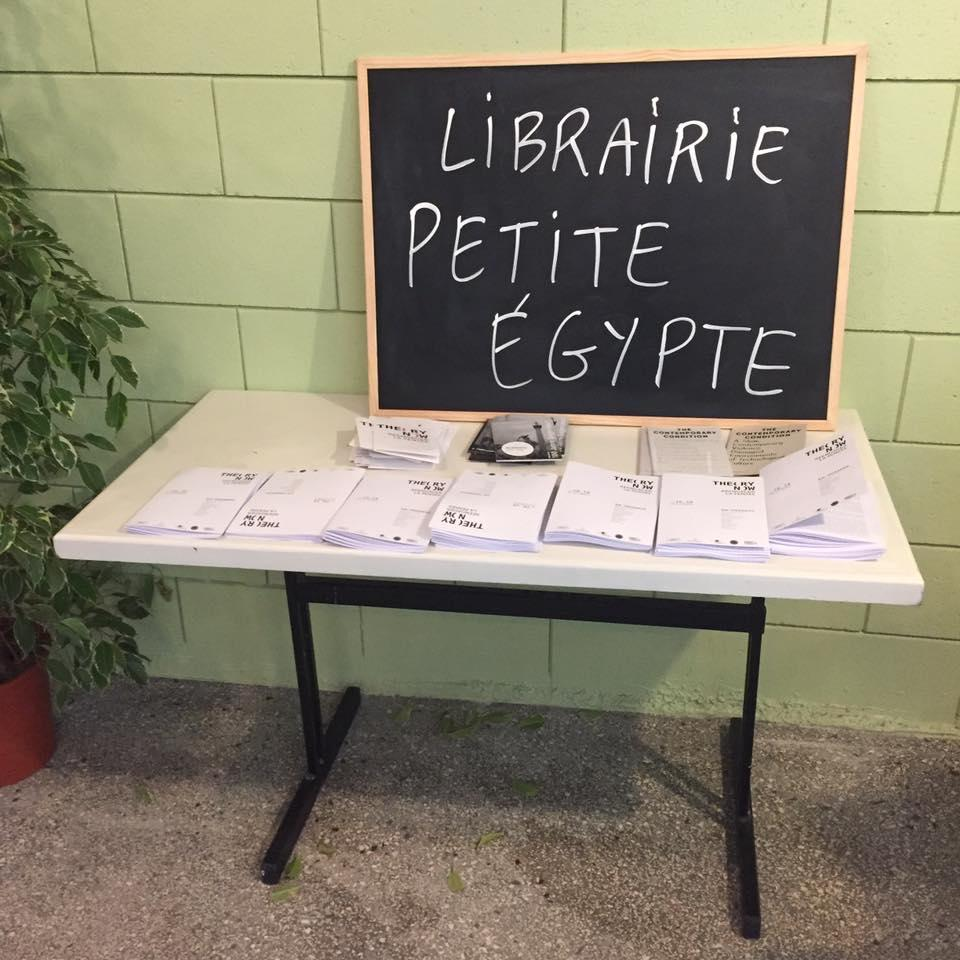 "The bookstore Petite Égypte as part of ""Theory Now"", November 2016"