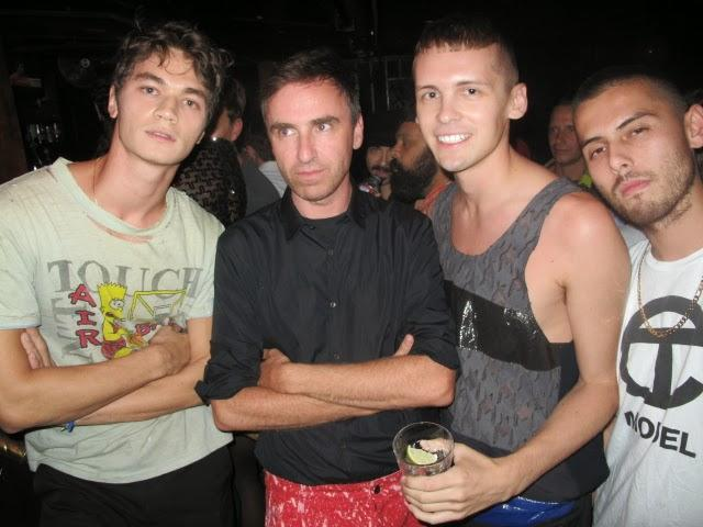 Raf Simons and friends, photo © Quentin Belt