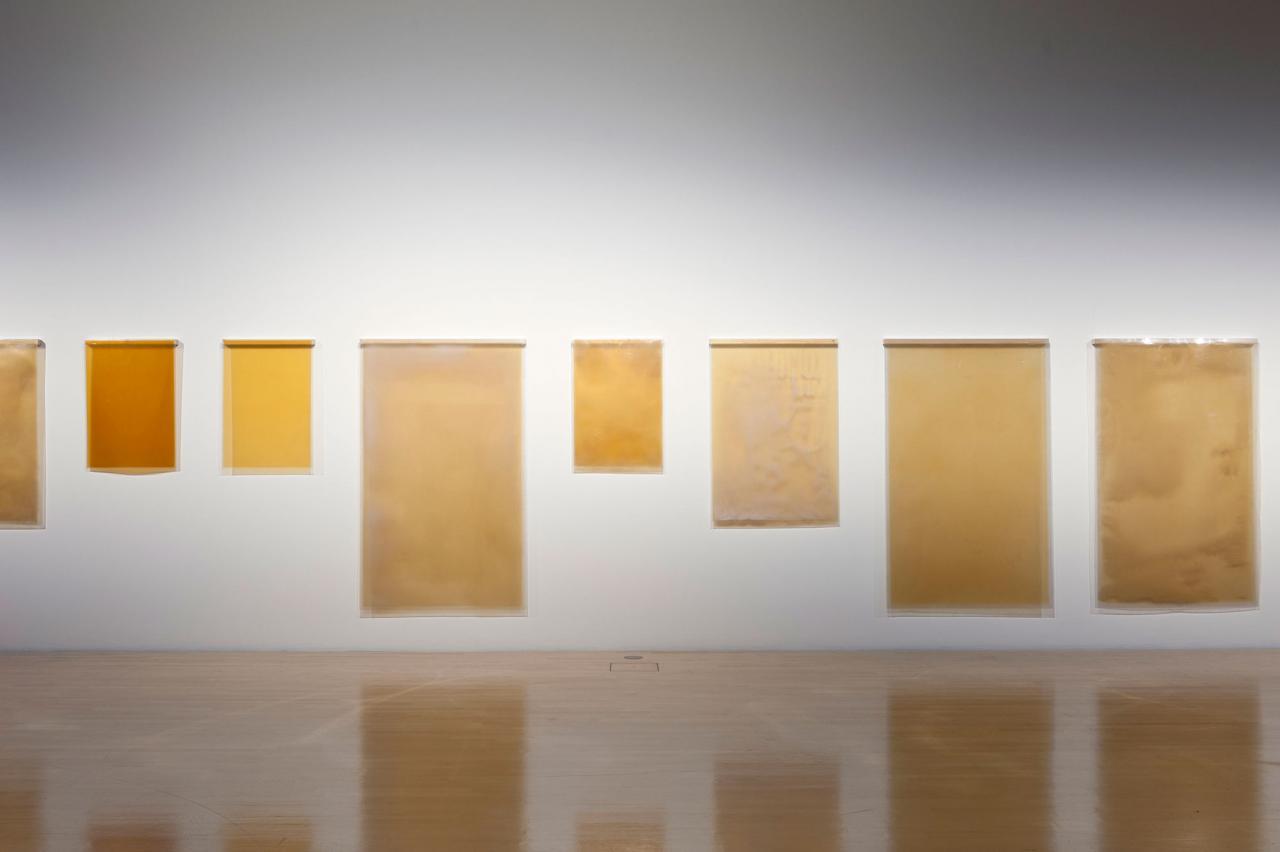 Carsten Nolte Ohne Titel , 2016 Installation view Lenbachhaus Courtesythe artist