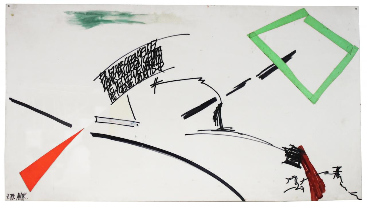 AMVK De leegte waarom (1979) CourtesyAMVK, Zeno X Gallery Antwerpen and Galerie Barbara Thumm, Berlin;Photo: AMVK