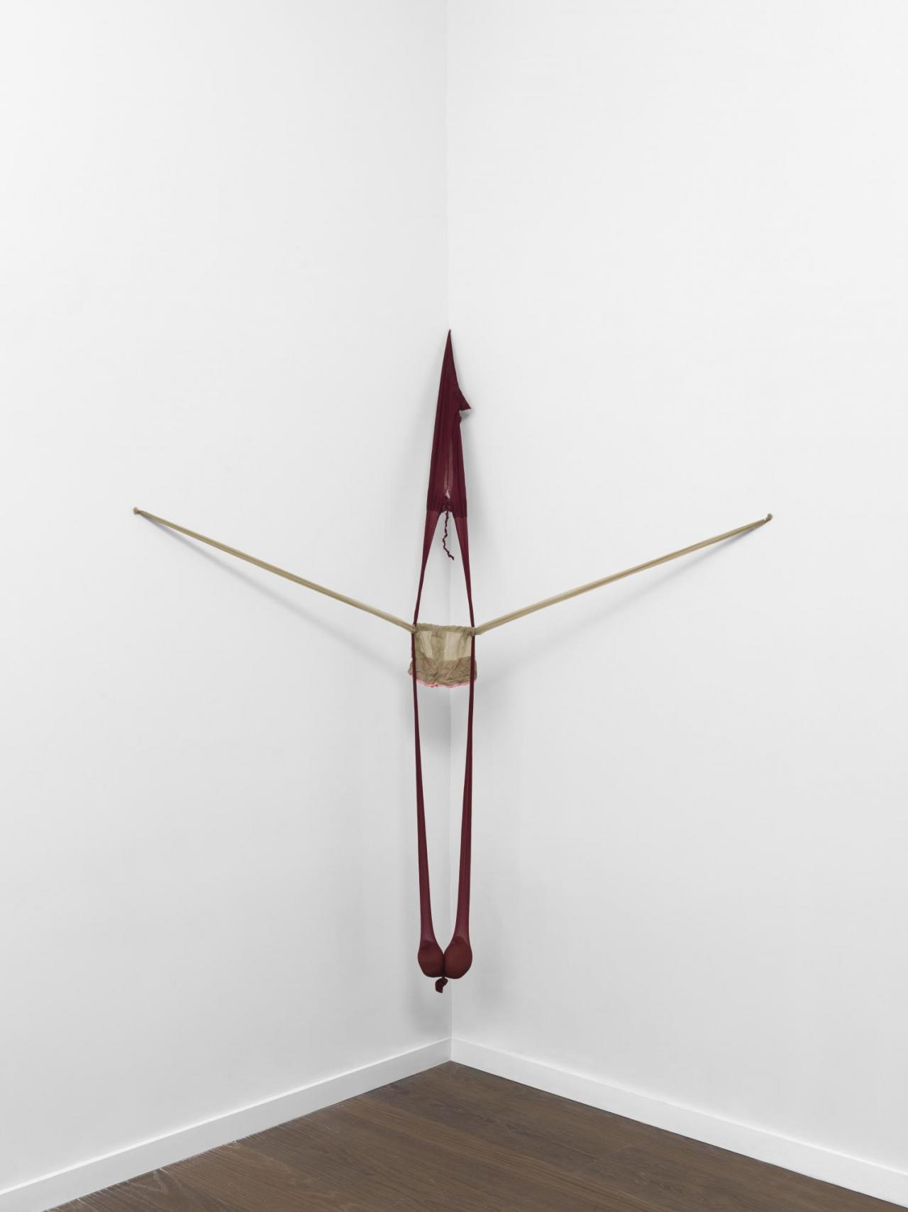 Senga Nengudi, R.S.V.P ., 2004 Nylon, Sand Courtesy the artist, Thomas Erben Gallery, and Lévy Gorvy, New York