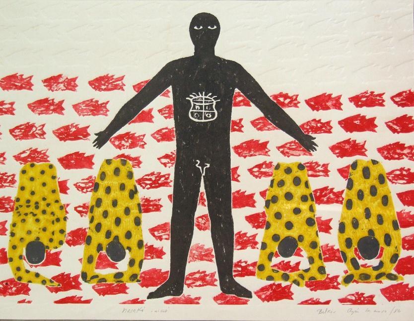 Belkis Ayón Nasakó inició (Nasakóinitiation) (1986)