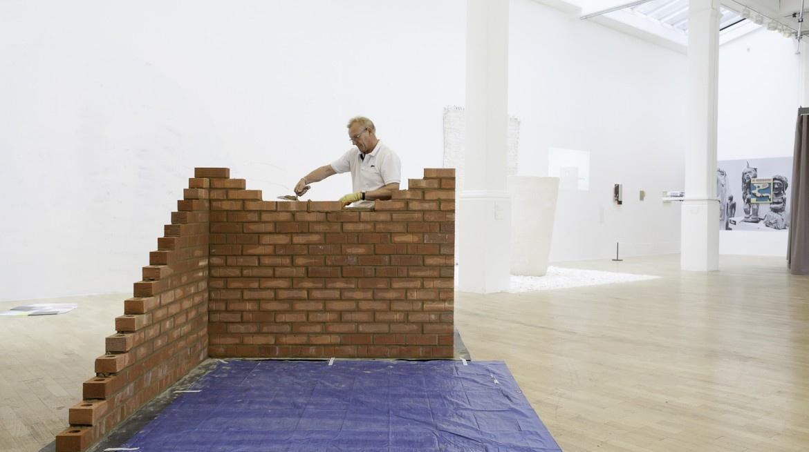 Demelza Watts, All in a day, Brian (8 hours of my fathers labour). Installation, Whitechapel Gallery, London, 2015 Courtesy the artist